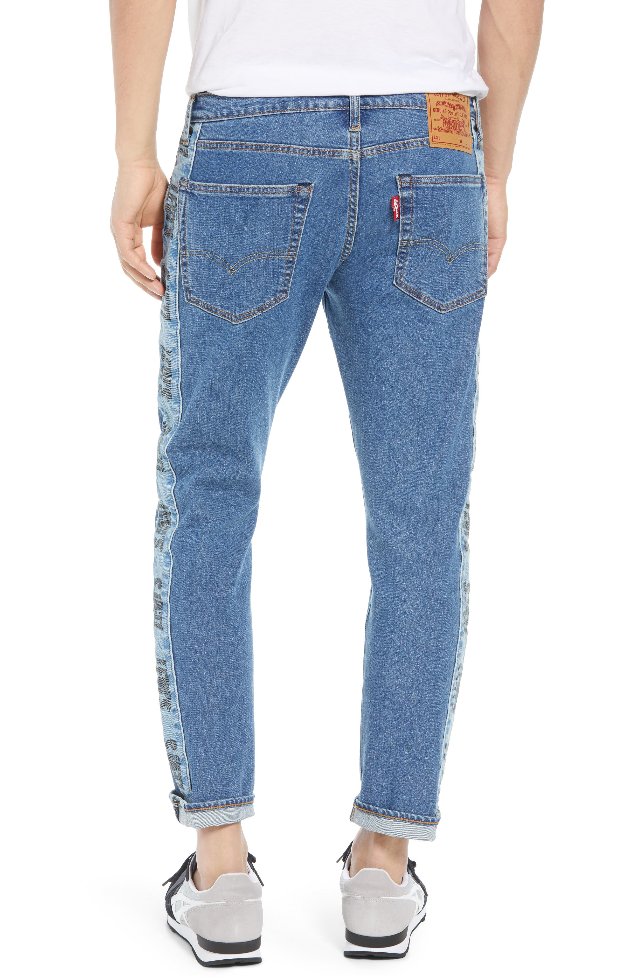 Hi-Ball Straight Leg Jeans,                             Alternate thumbnail 2, color,                             MEDIUM BLUE