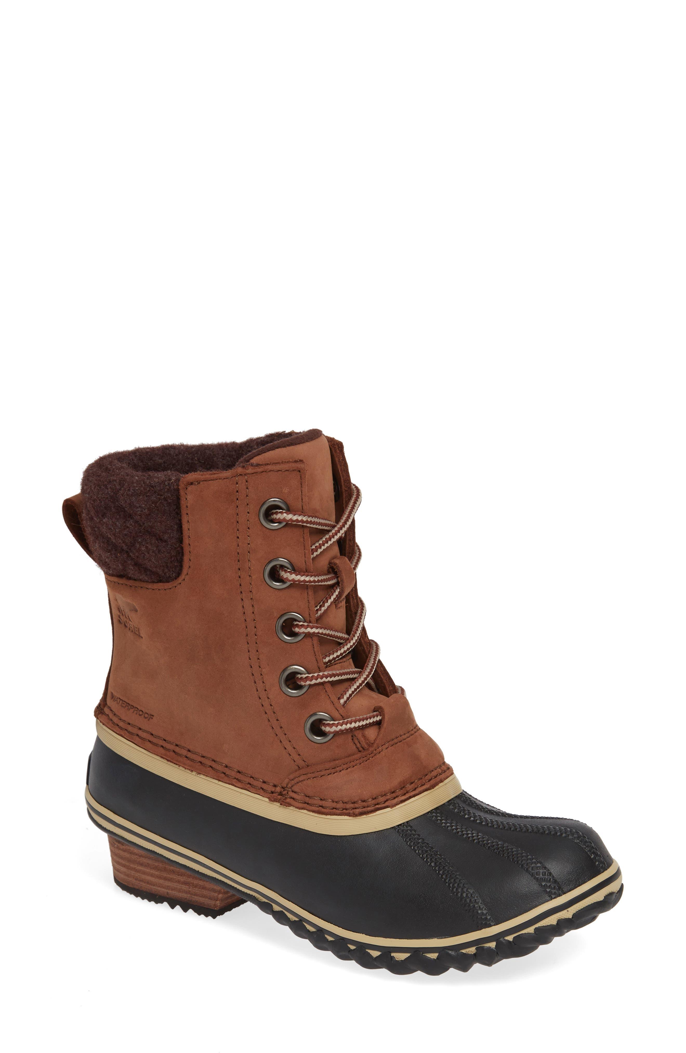 SOREL,                             Slimpack II Waterproof Boot,                             Main thumbnail 1, color,                             BURRO/ CATTAIL