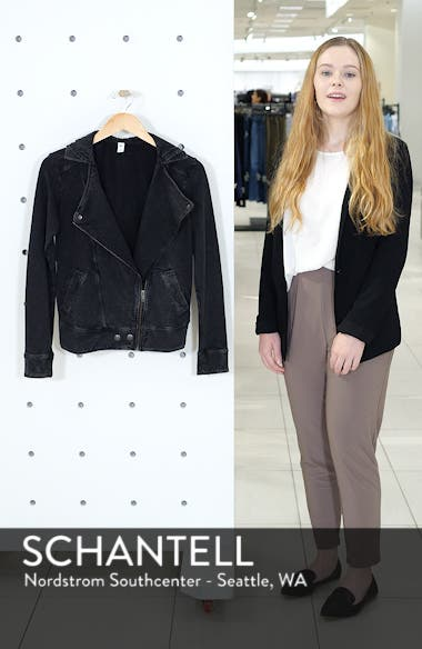 Hooded Knit Moto Jacket, sales video thumbnail