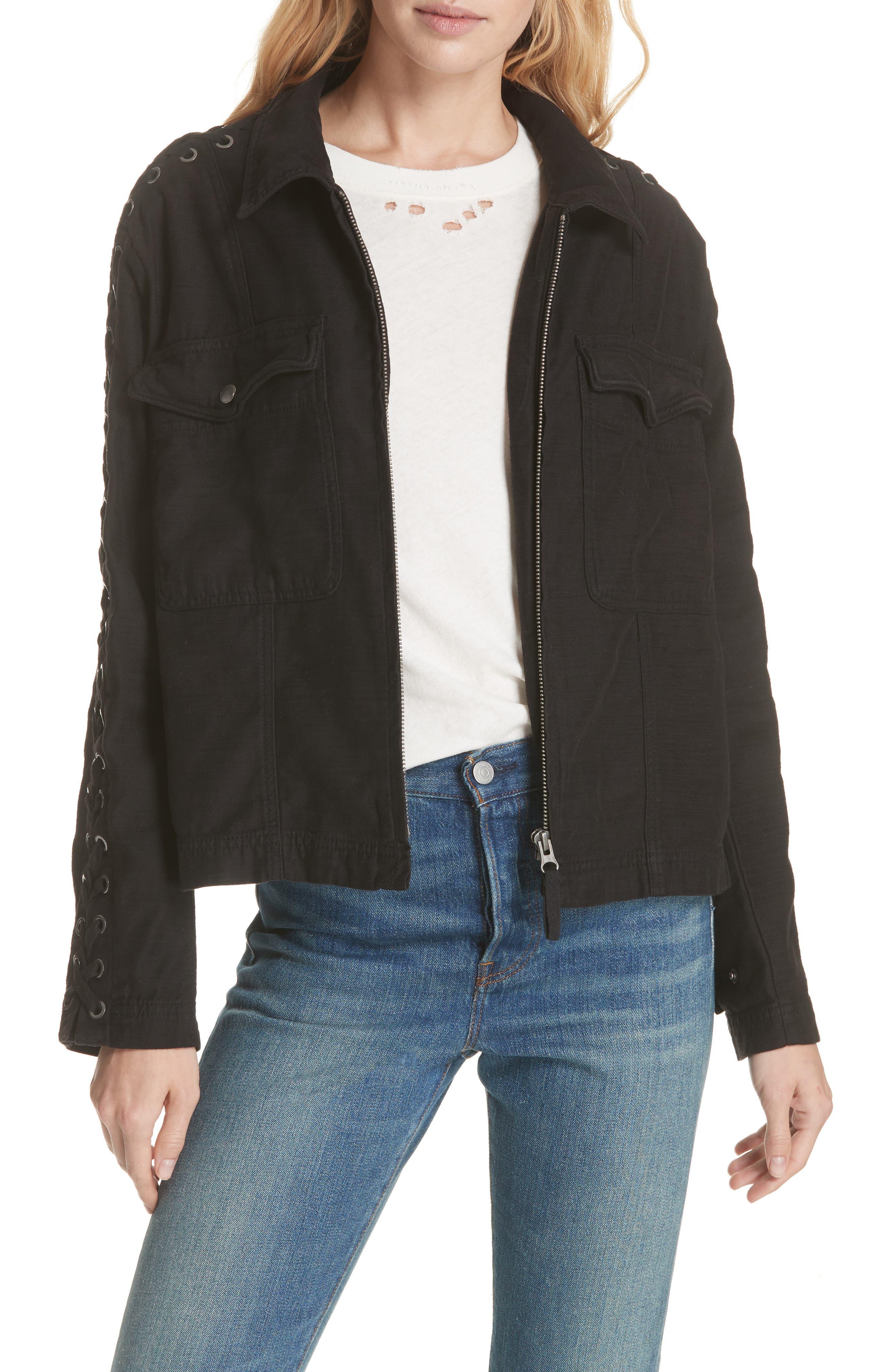 Faye Military Jacket,                         Main,                         color,