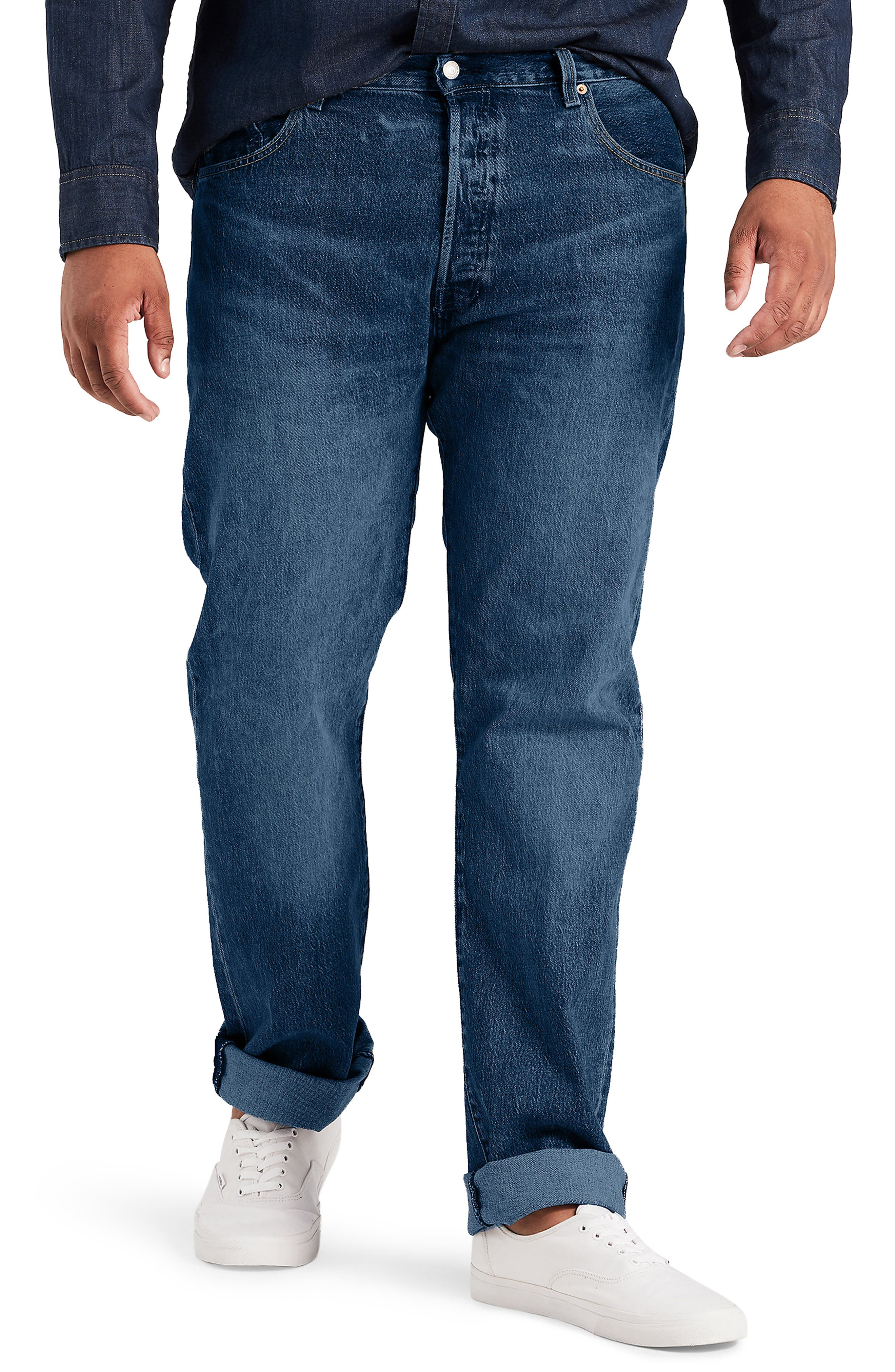 LEVI'S<SUP>®</SUP>,                             501<sup>®</sup> Straight Leg Jeans,                             Main thumbnail 1, color,                             DAIRY WHIPPED