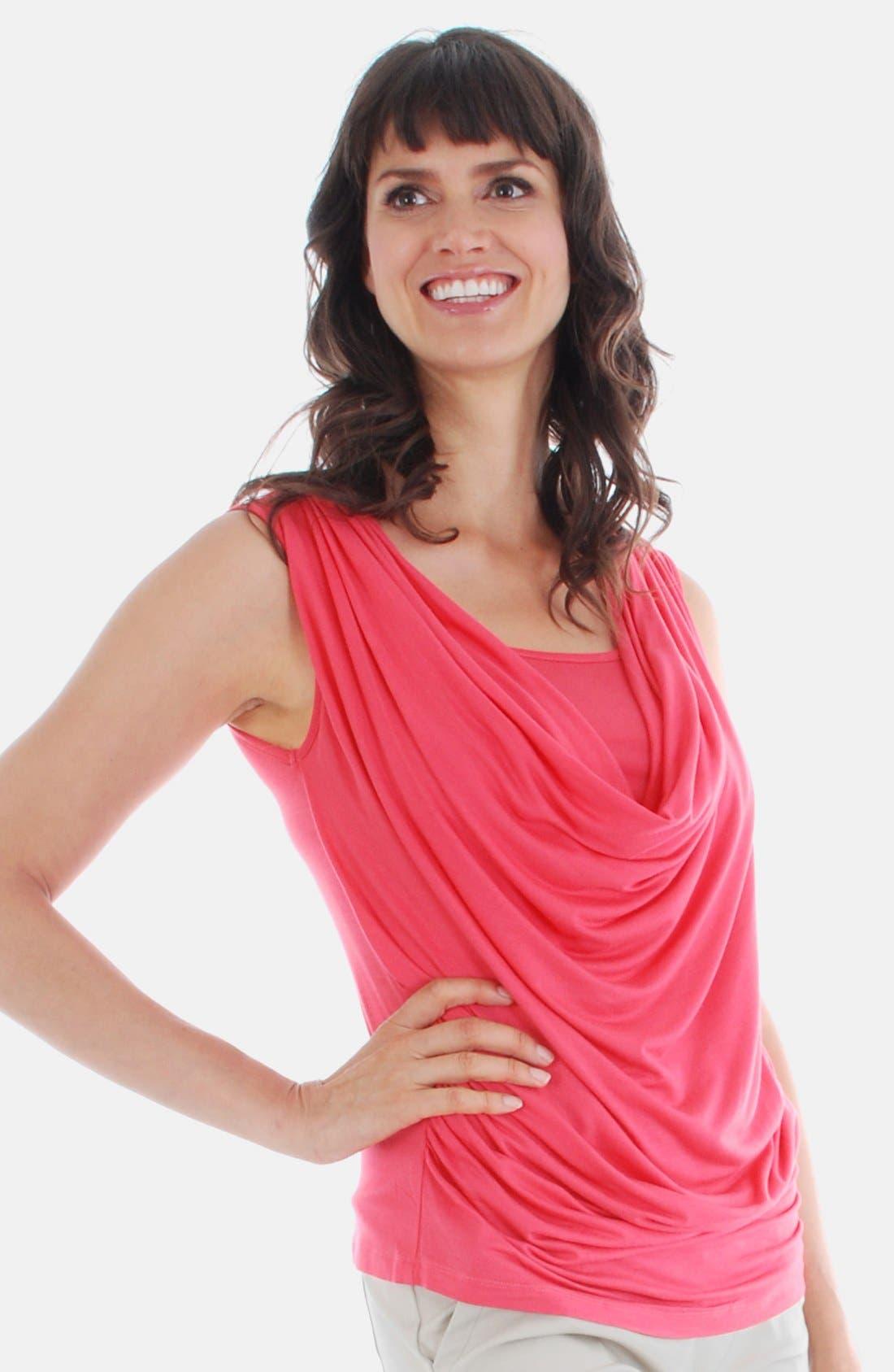 'Carla' Drape Maternity Top,                             Main thumbnail 1, color,                             950