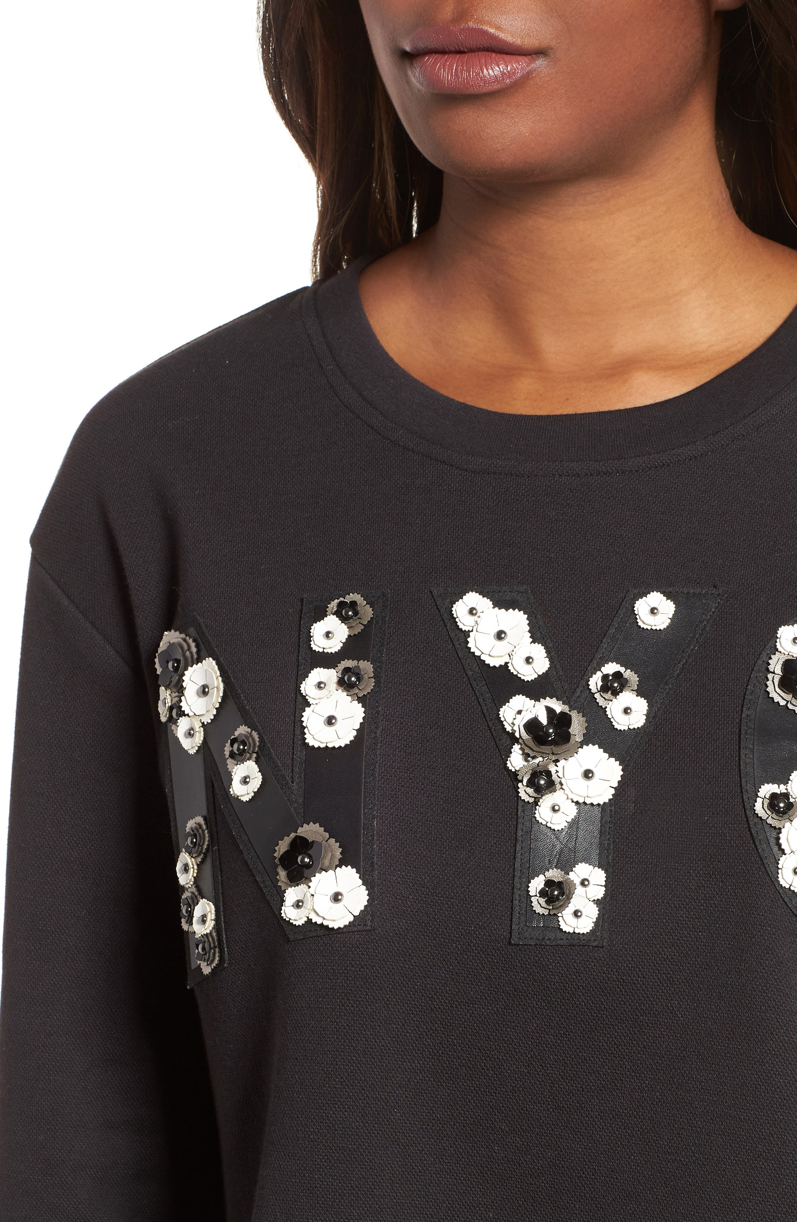 NYC Sweatshirt,                             Alternate thumbnail 4, color,                             BLACK