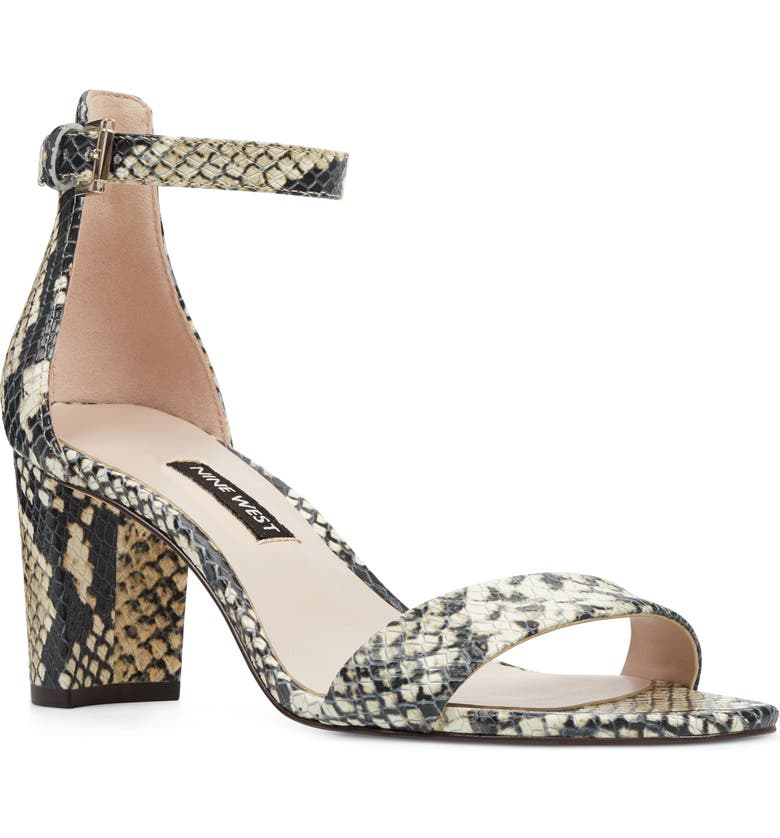 Pruce Ankle Strap Sandal, Main, color, ROCCIA SNAKE PRINT LEATHER