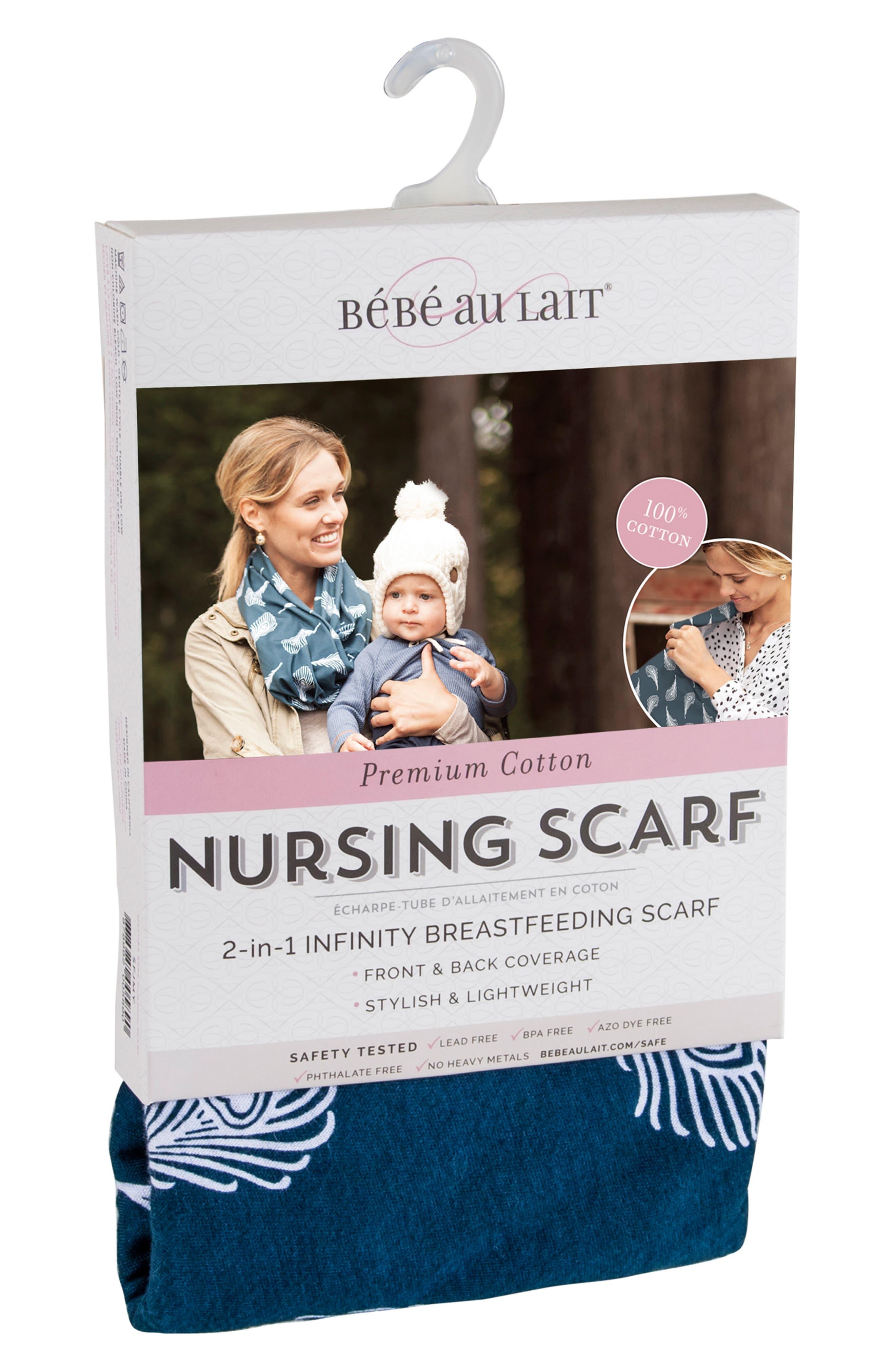 Infinity Nursing Scarf,                             Alternate thumbnail 4, color,                             NAVY/ WHITE