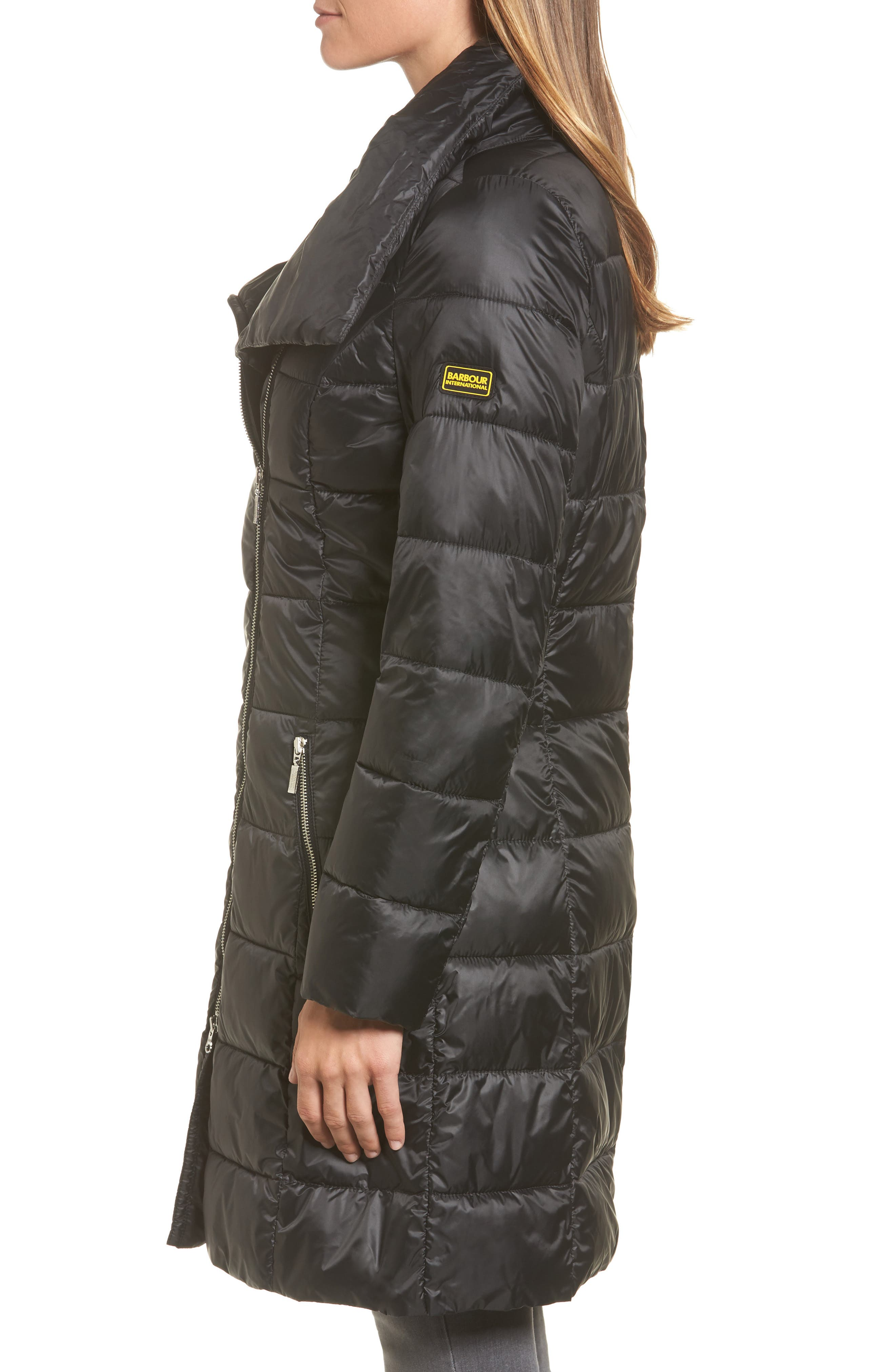 Water Resistant Baffle Quilted Jacket,                             Alternate thumbnail 3, color,