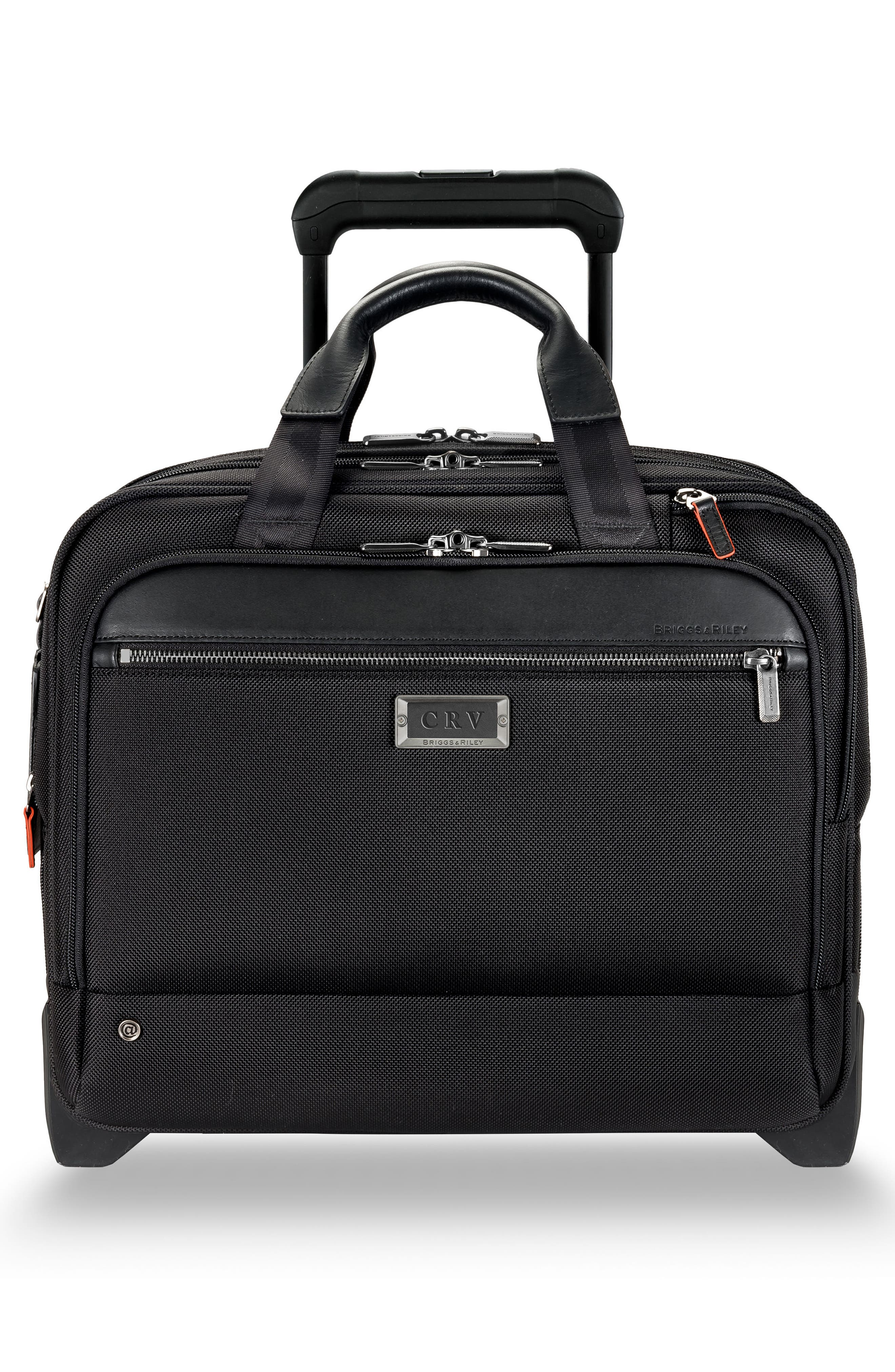 @work 2-Wheel Briefcase,                             Alternate thumbnail 4, color,                             BLACK