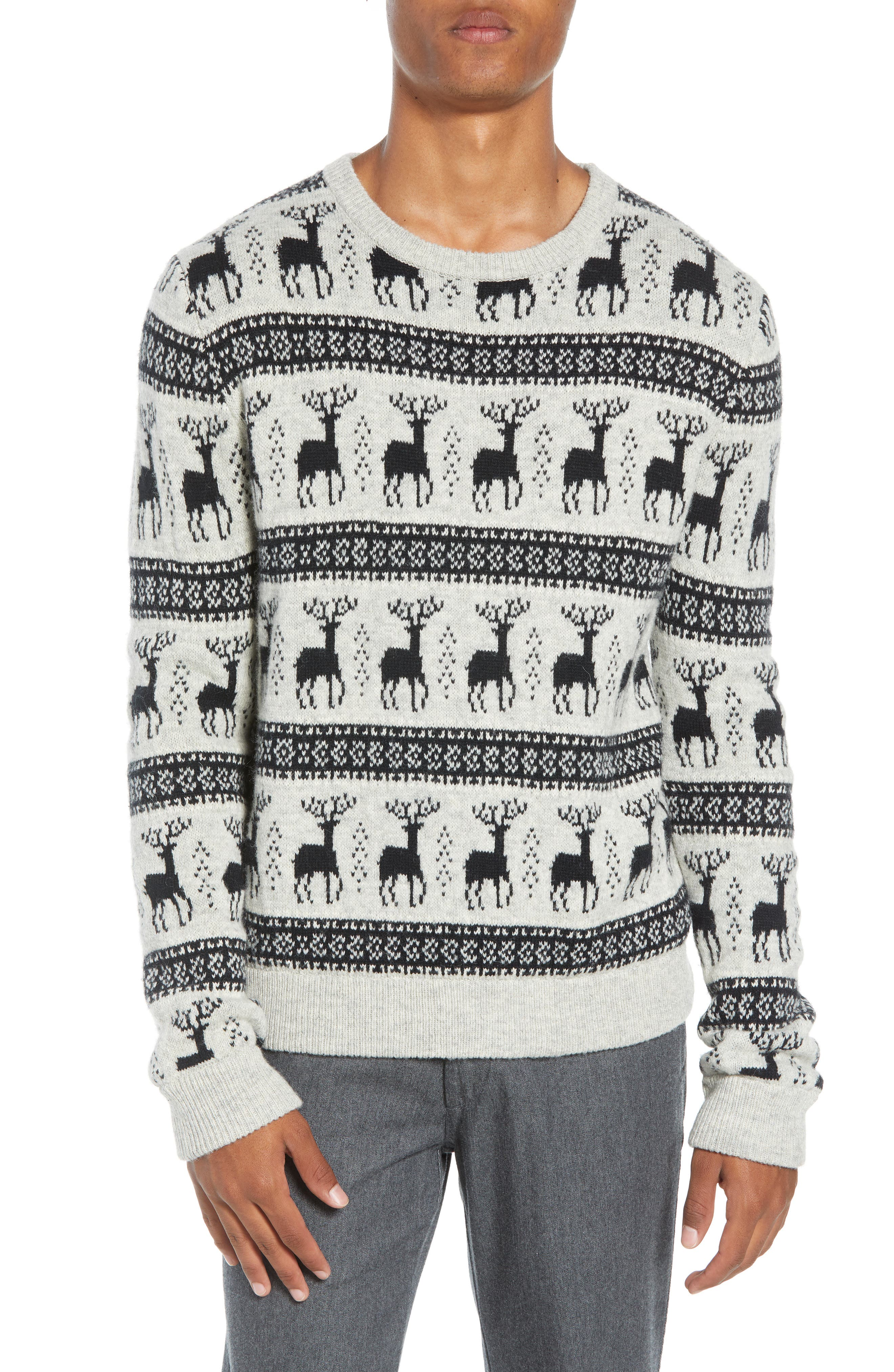 Cedar Slim Fit Crewneck Sweater,                         Main,                         color, LIGHT HEATHER GREY