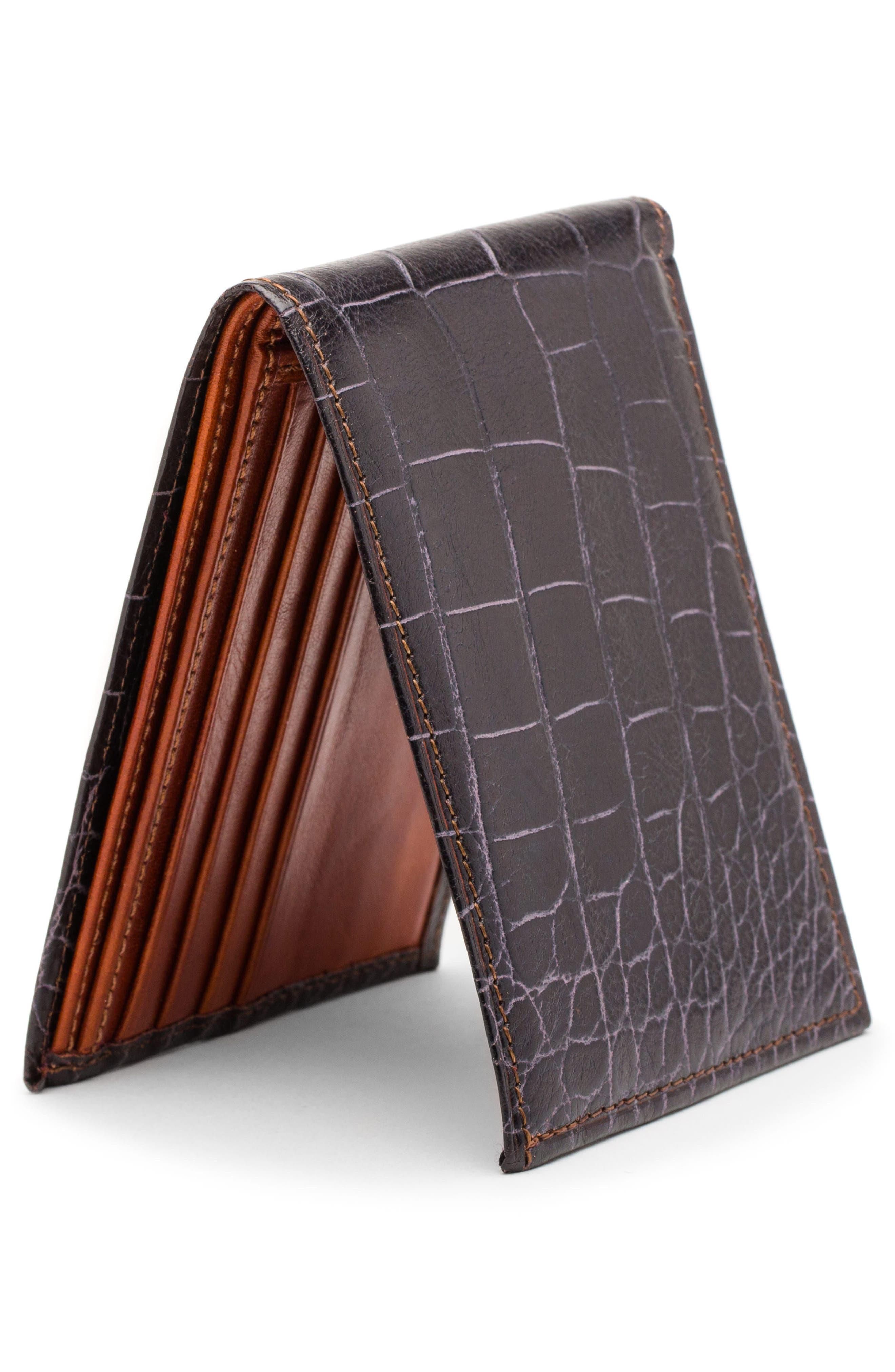 Embossed Bifold Wallet,                             Alternate thumbnail 4, color,