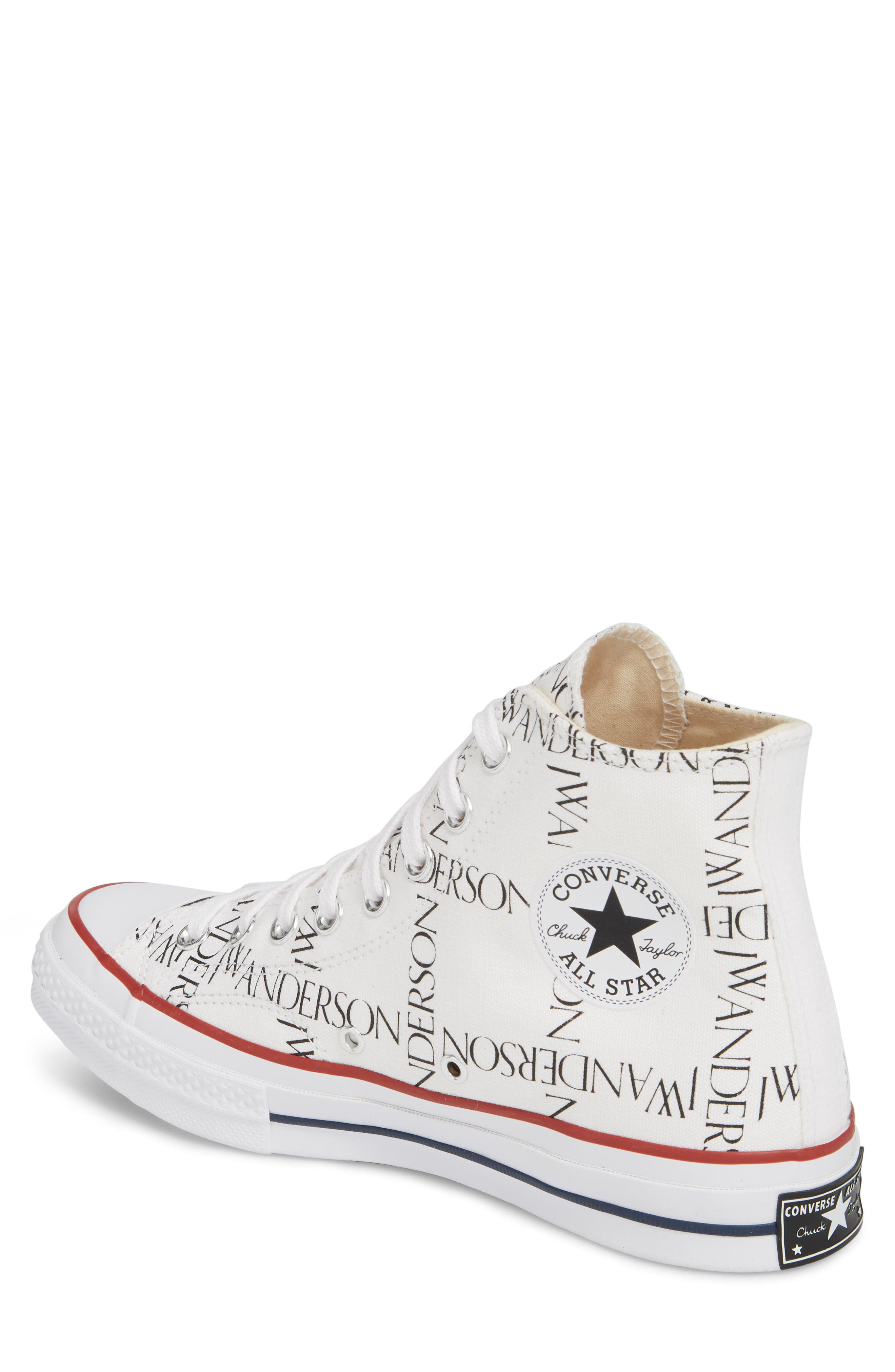 x JW Anderson Chuck Taylor<sup>®</sup> All Star<sup>®</sup> 70 Grid Sneaker,                             Alternate thumbnail 2, color,                             WHITE CANVAS