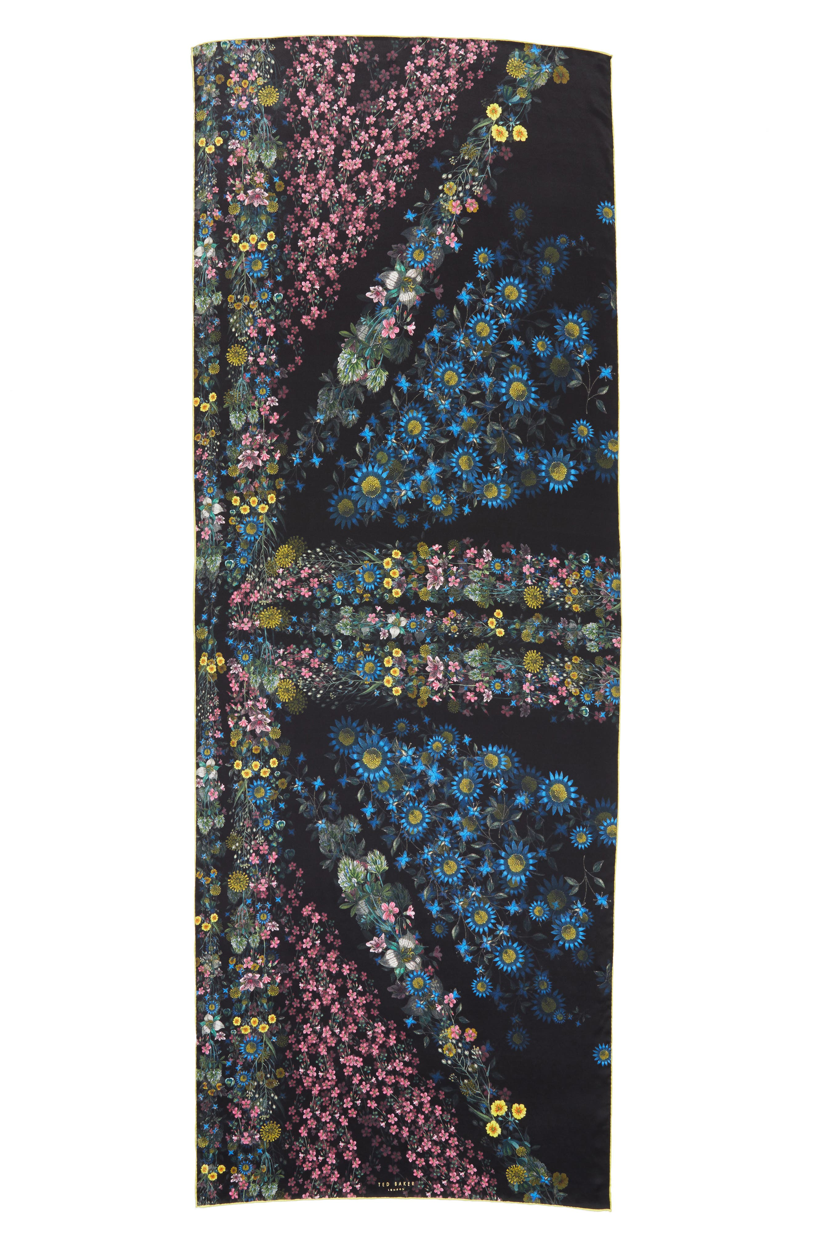 Unity Floral Silk Scarf,                             Alternate thumbnail 3, color,
