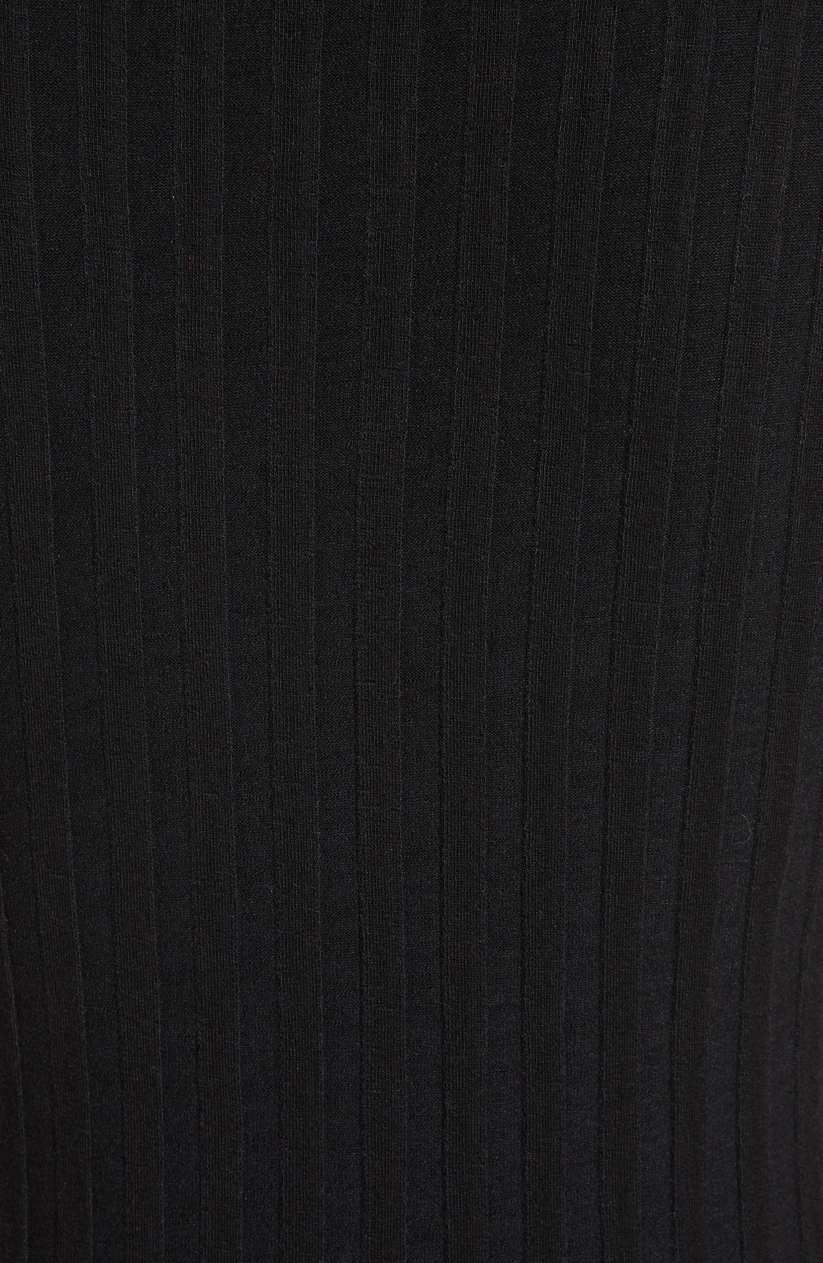Preston Rib Knit Tee,                             Alternate thumbnail 5, color,                             001