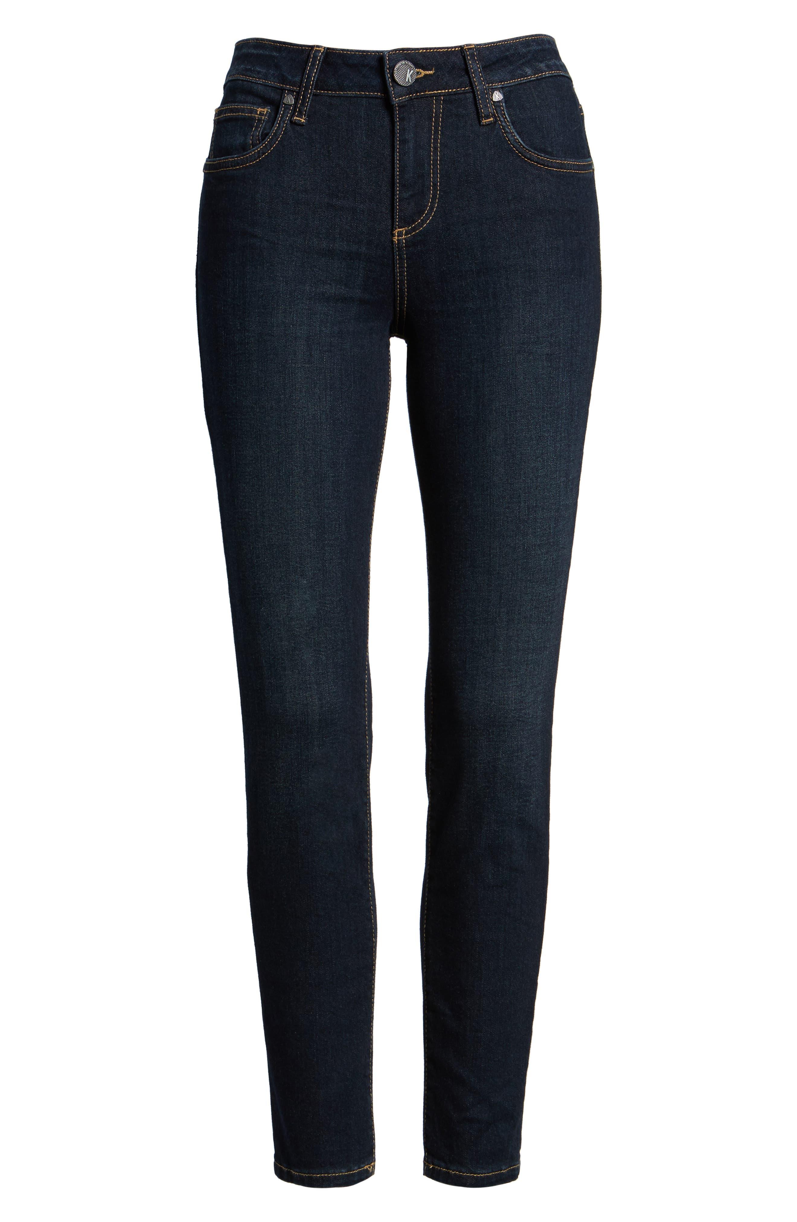Diana Kurvy Stretch Ankle Jeans,                             Alternate thumbnail 6, color,                             490