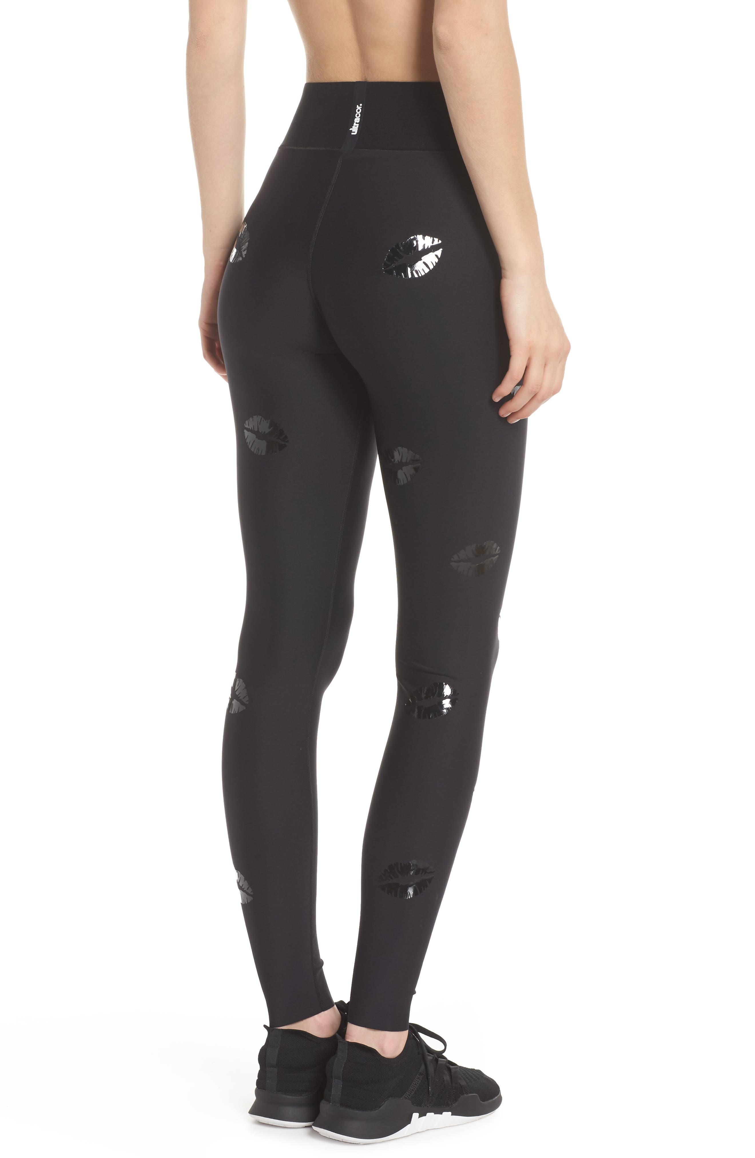 Make Out Lux High Waist Leggings,                             Alternate thumbnail 2, color,                             002
