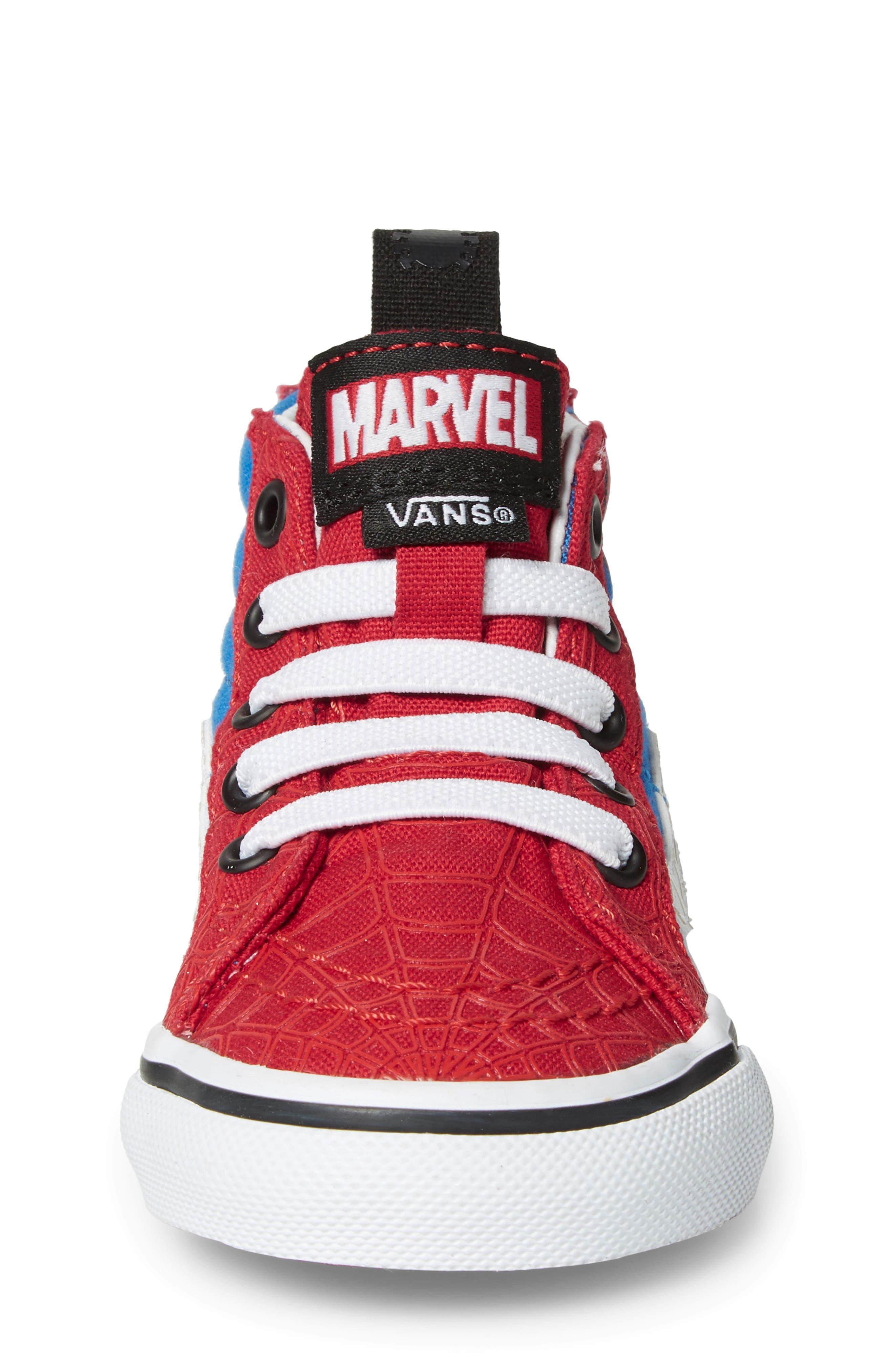 x Marvel<sup>®</sup> Spider-Man SK8-Hi Sneaker,                             Alternate thumbnail 4, color,