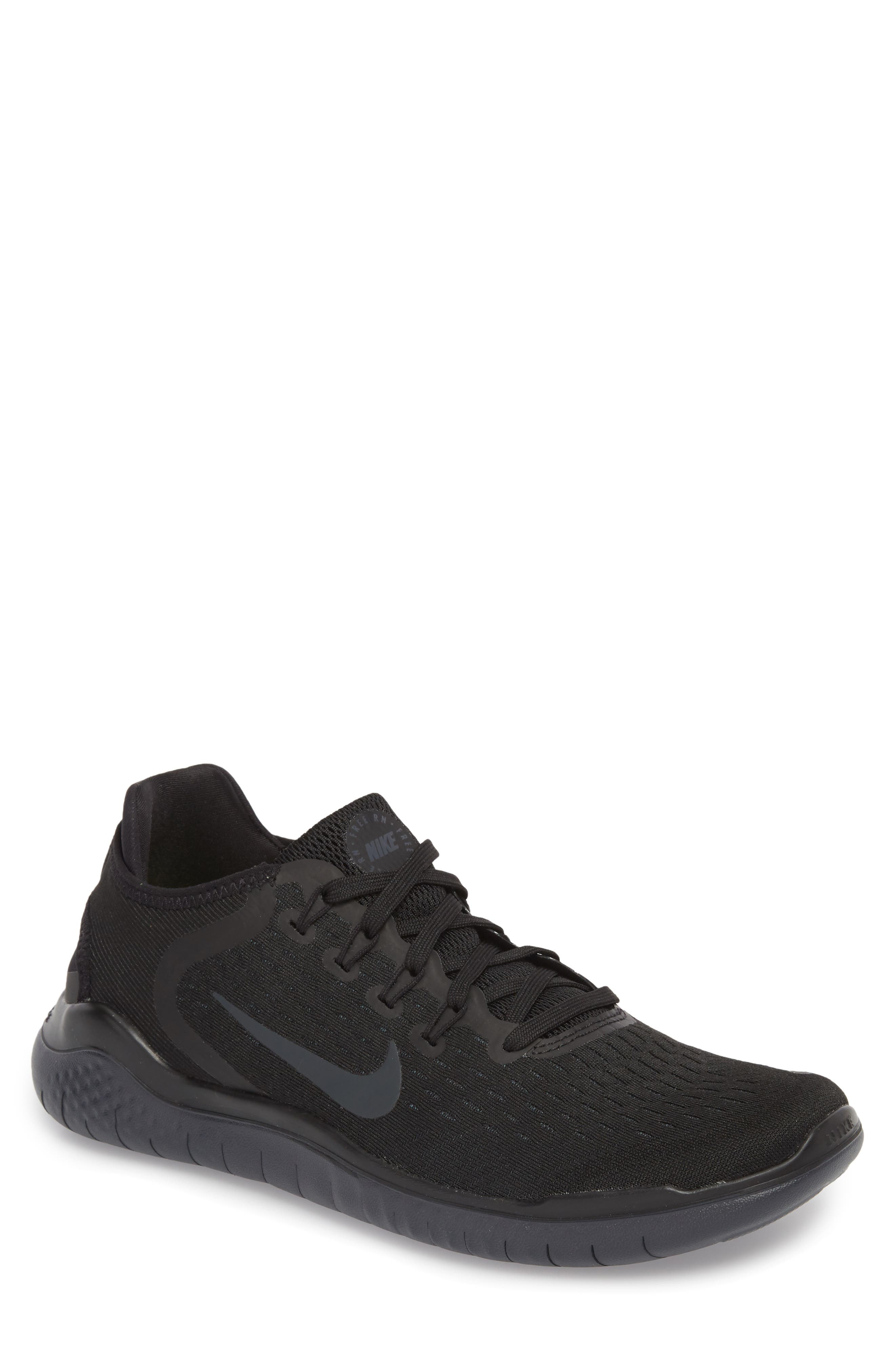Free RN 2018 Running Shoe,                         Main,                         color, BLACK/ ANTHRACITE