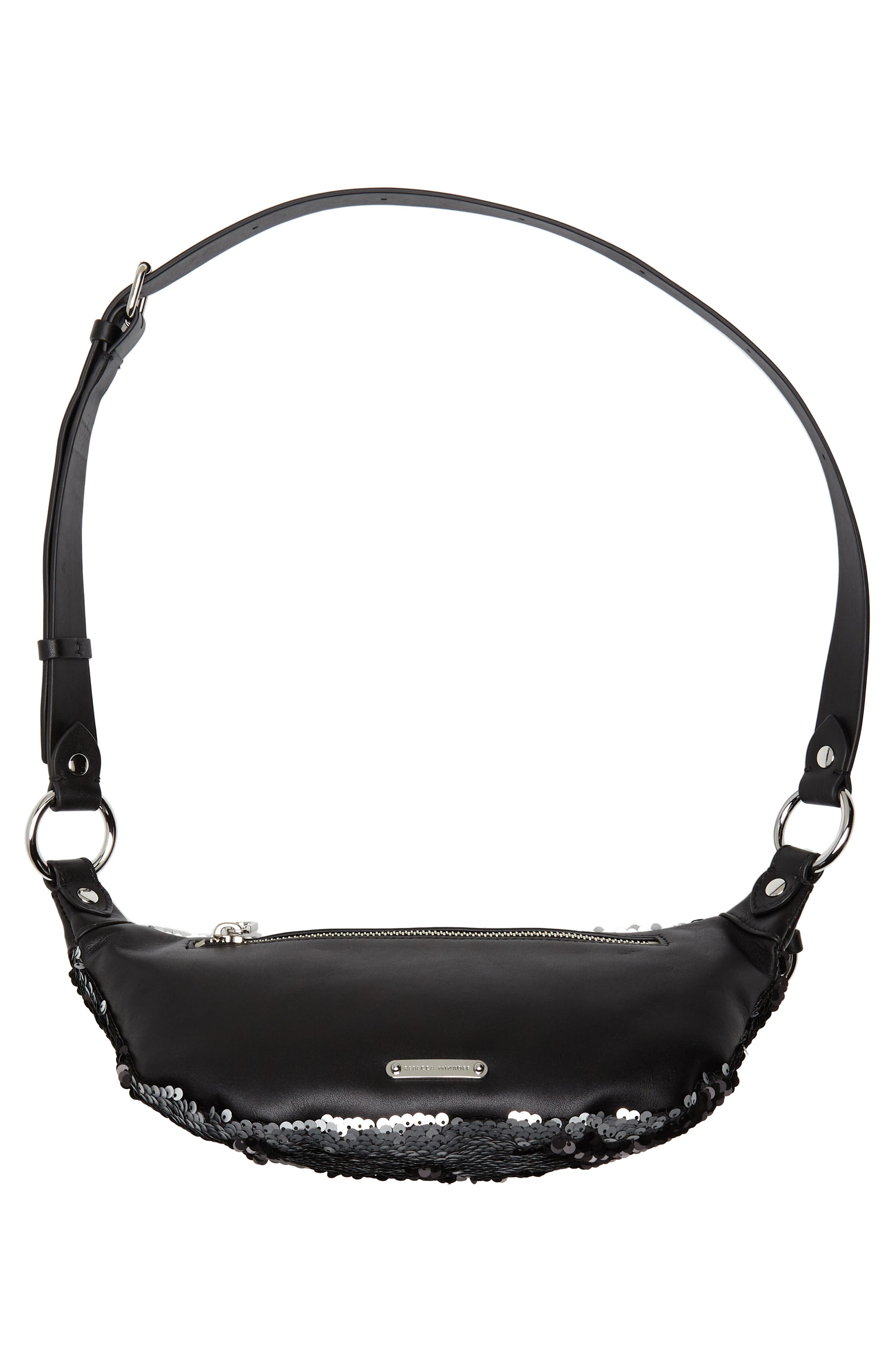 Sequin Belt Bag,                             Alternate thumbnail 7, color,                             SILVER