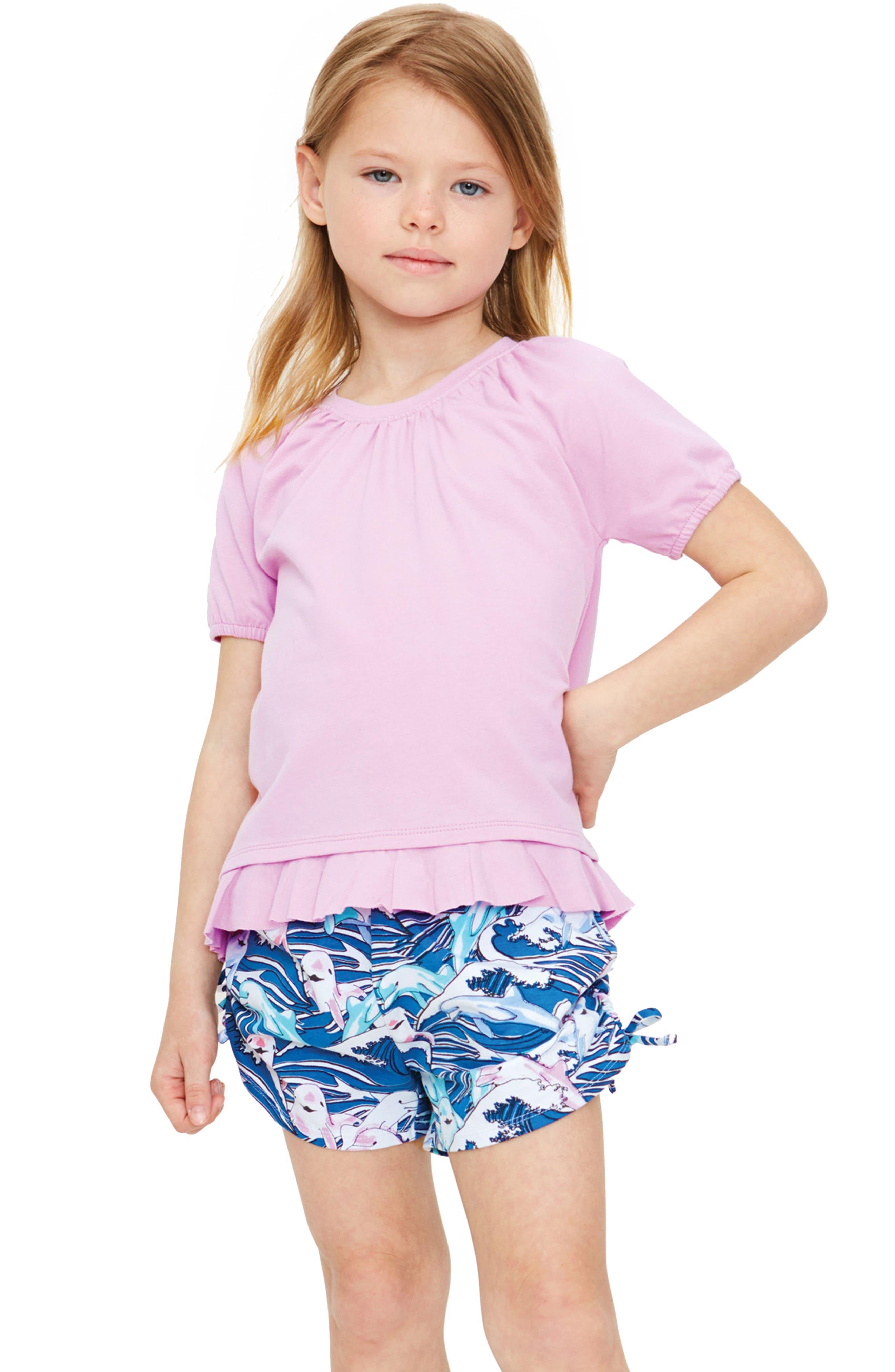 Jordyn Print Shorts,                         Main,                         color, GREAT WAVE