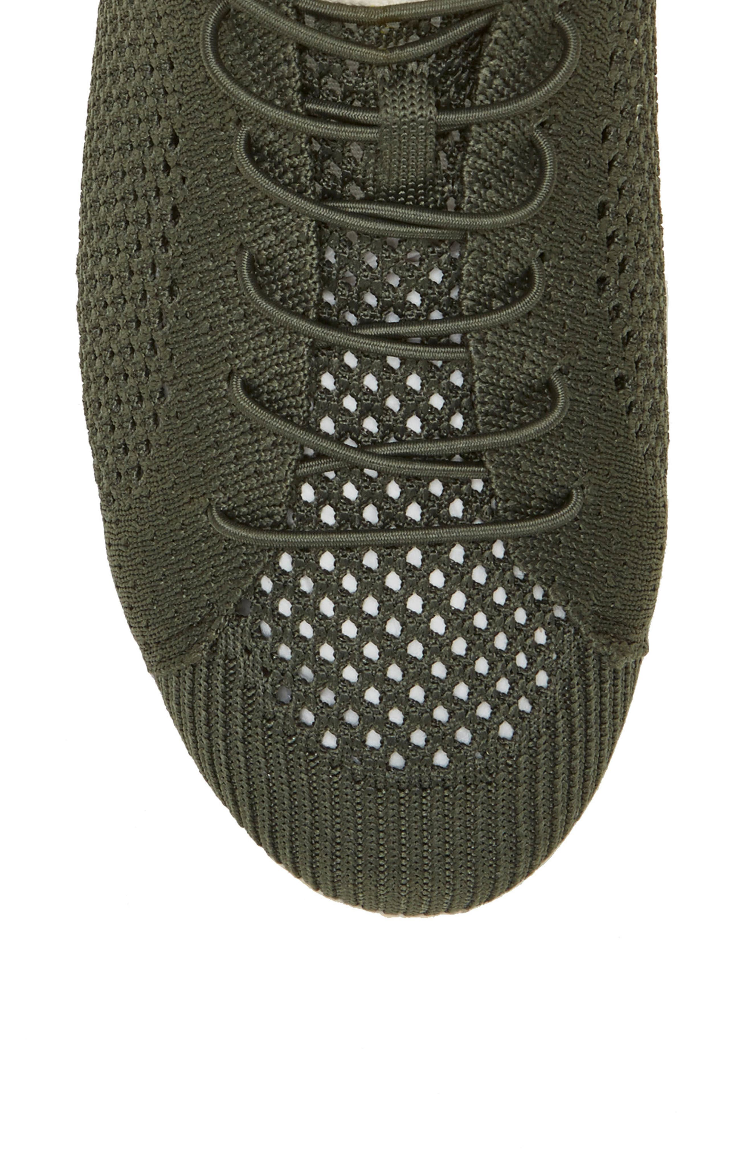 Casie Knit Sneaker,                             Alternate thumbnail 5, color,                             FOREST KNIT FABRIC