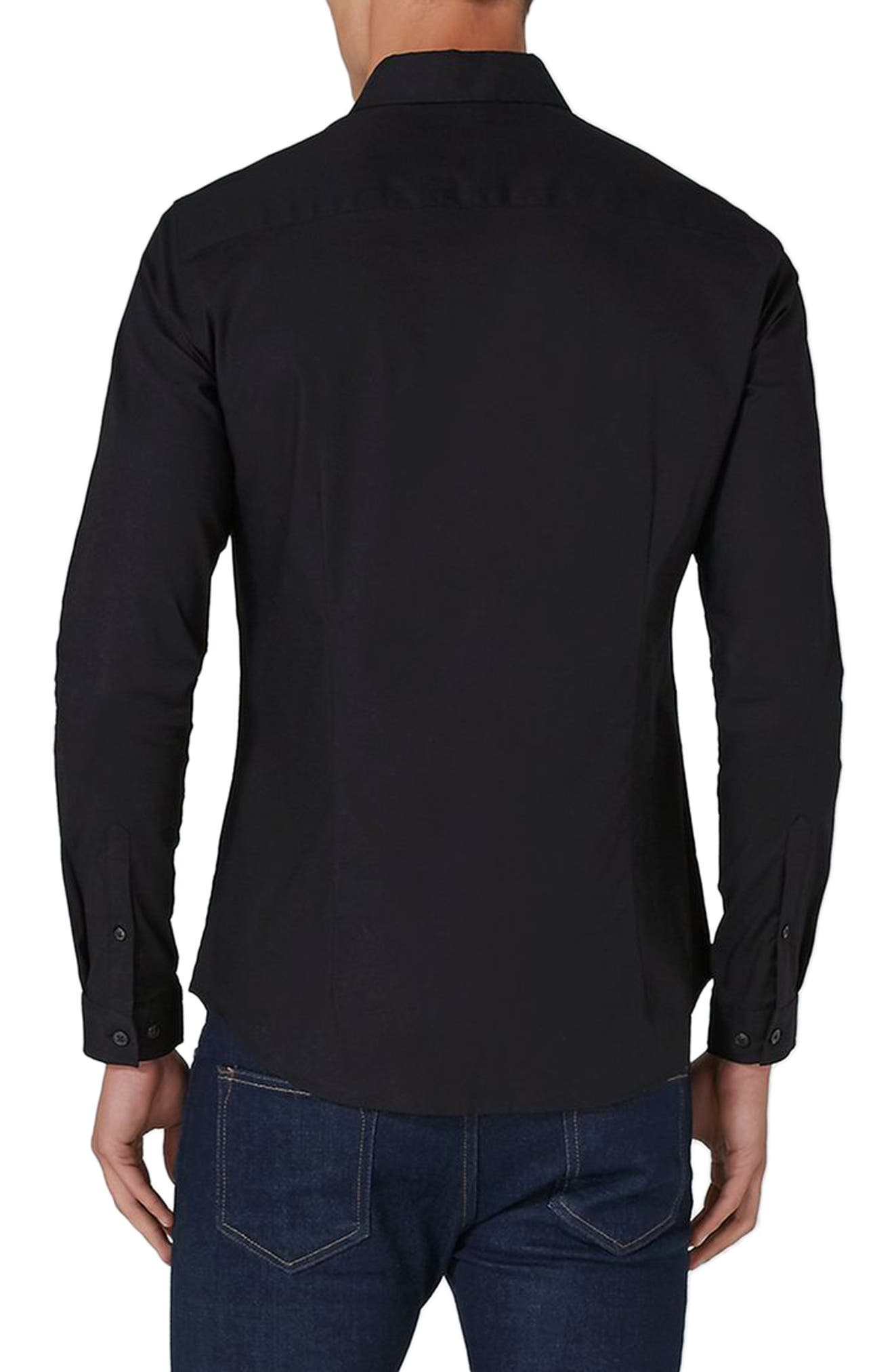 Muscle Fit Oxford Shirt,                             Alternate thumbnail 2, color,                             001