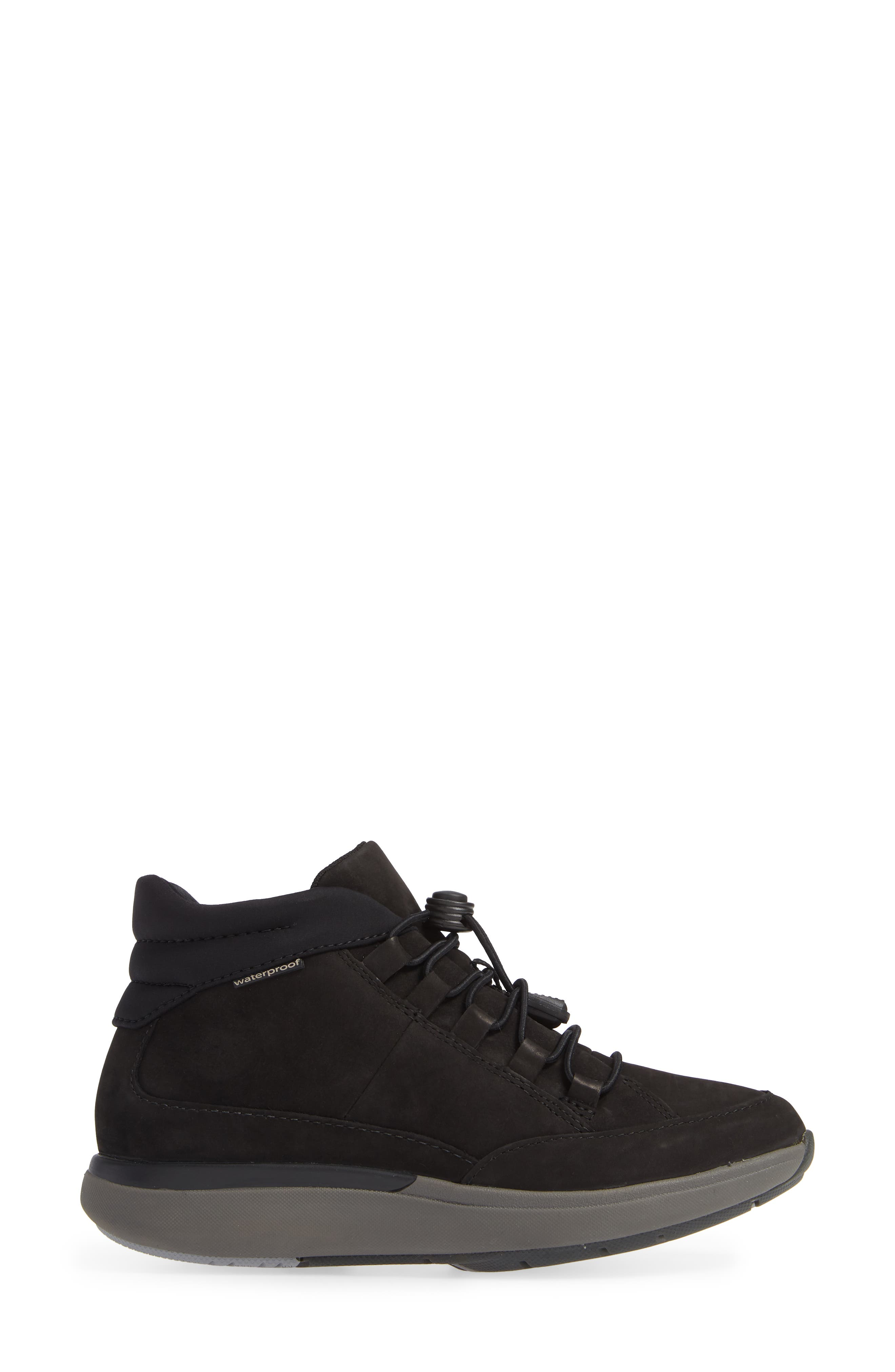 Un Cruise Lace-Up Sneaker,                             Alternate thumbnail 3, color,                             BLACK NUBUCK