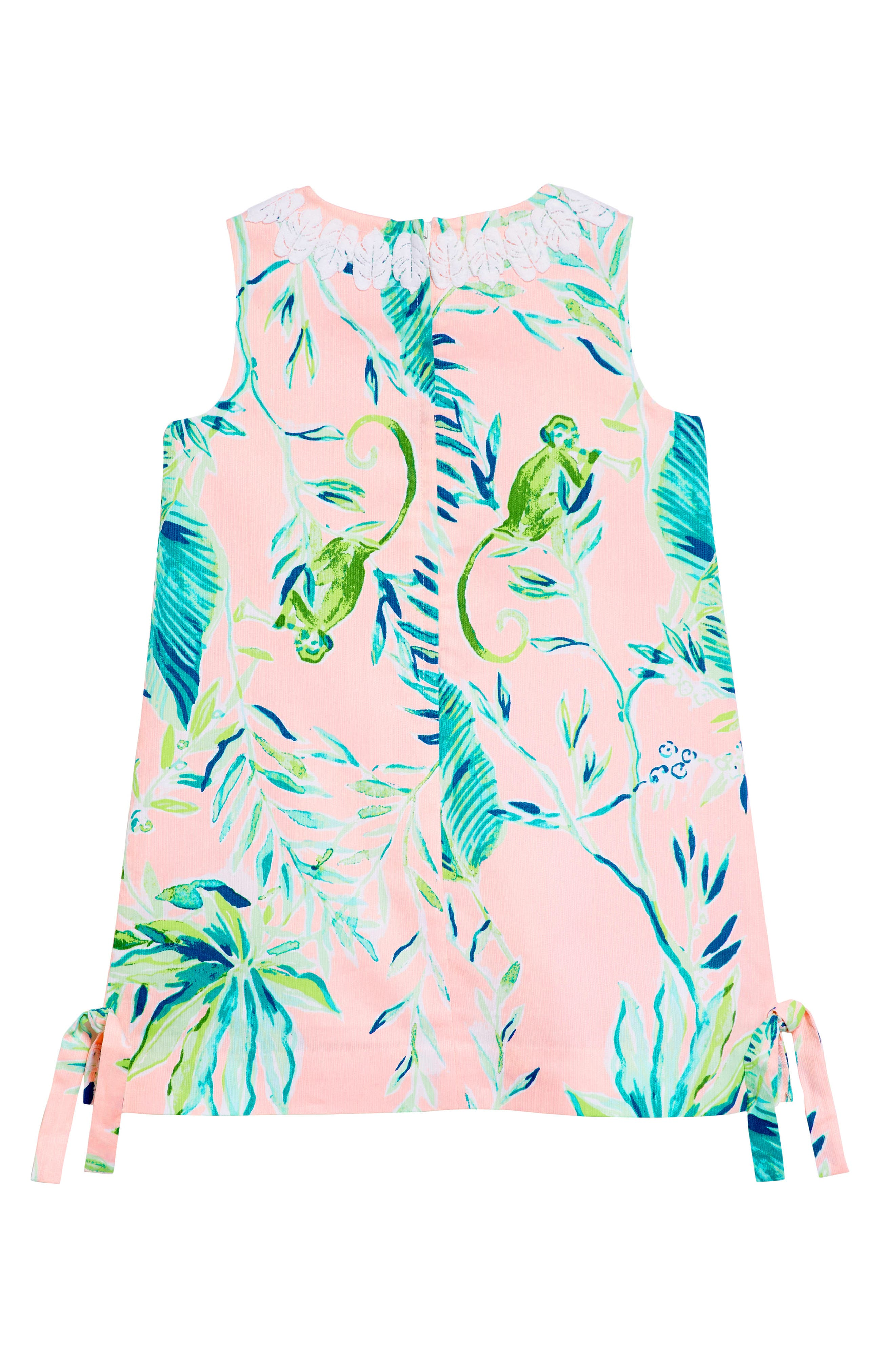 Little Lilly Classic Shift Dress,                             Alternate thumbnail 2, color,                             CORAL REEF TINT CHIMPOISERIE