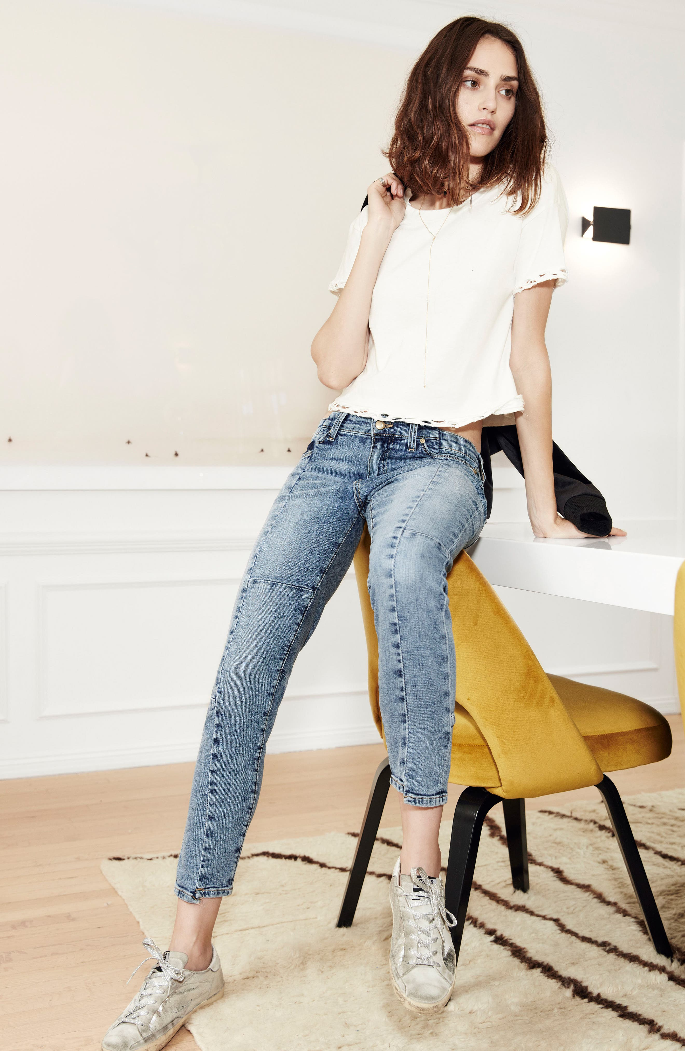 Smith Skinny Ankle Jeans,                             Alternate thumbnail 4, color,                             010