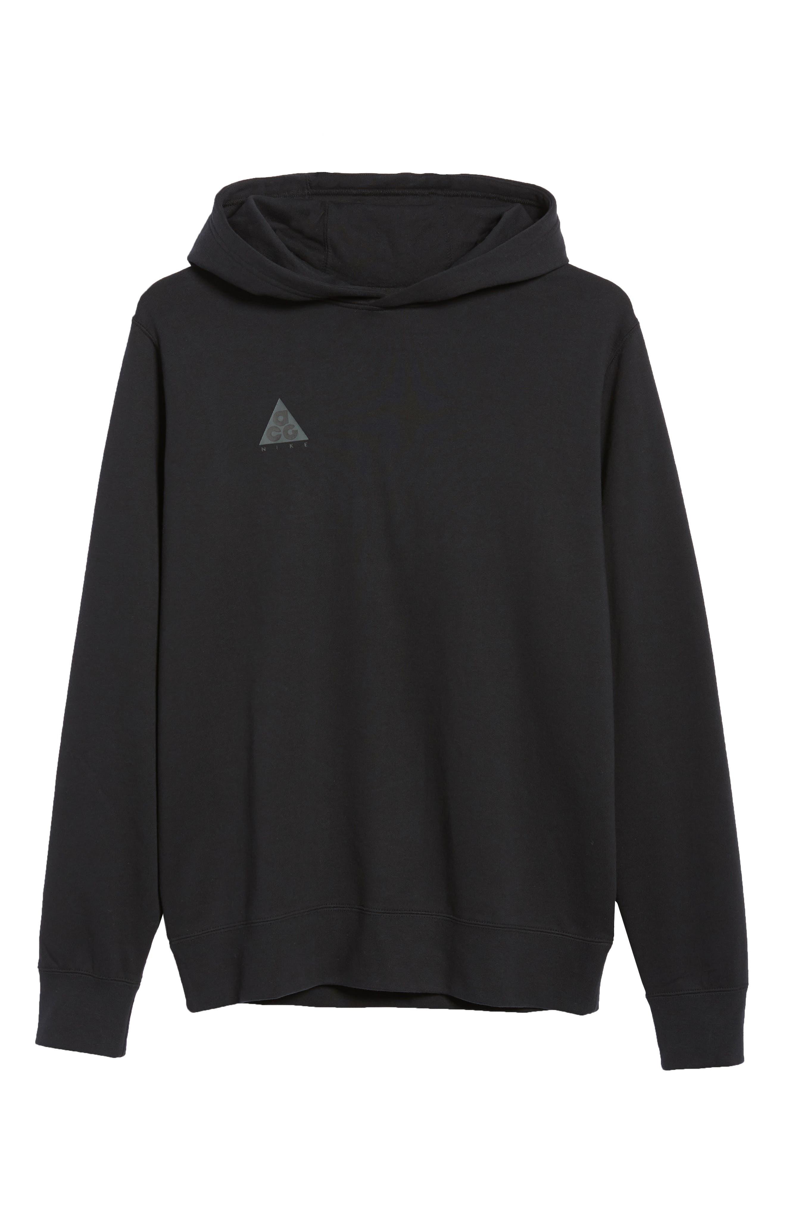 Sportswear ACG Pullover Hoodie,                             Alternate thumbnail 6, color,                             BLACK/ BLACK