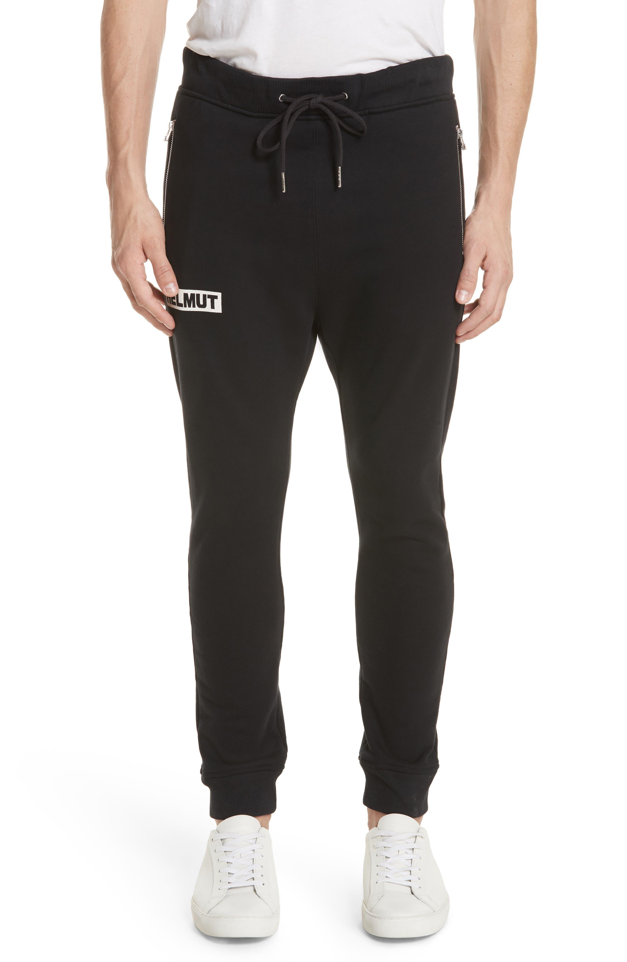 Logo Print Sweatpants,                         Main,                         color, BLACK