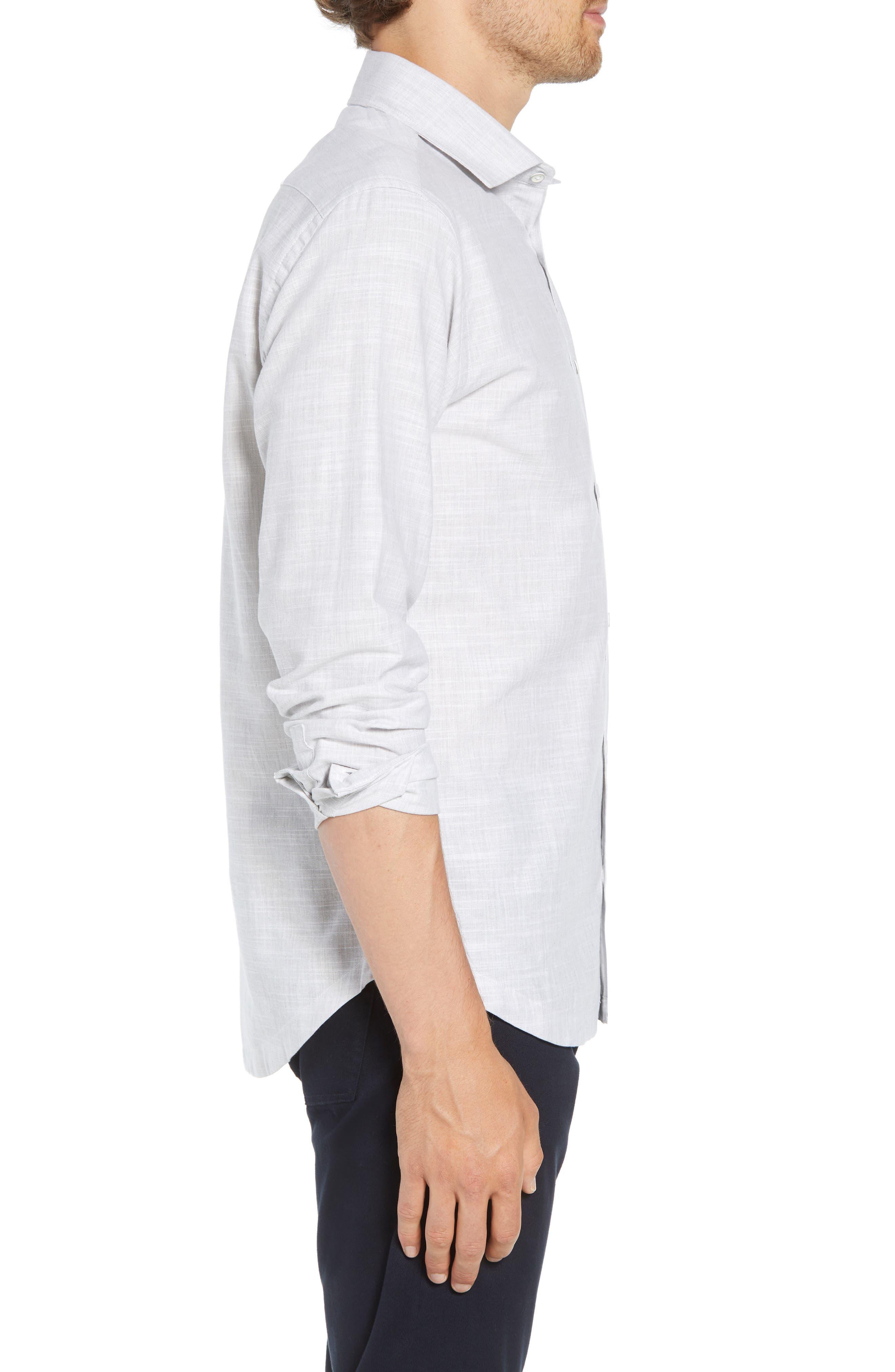 Rugger Regular Fit Sport Shirt,                             Alternate thumbnail 4, color,                             LIGHT GREY