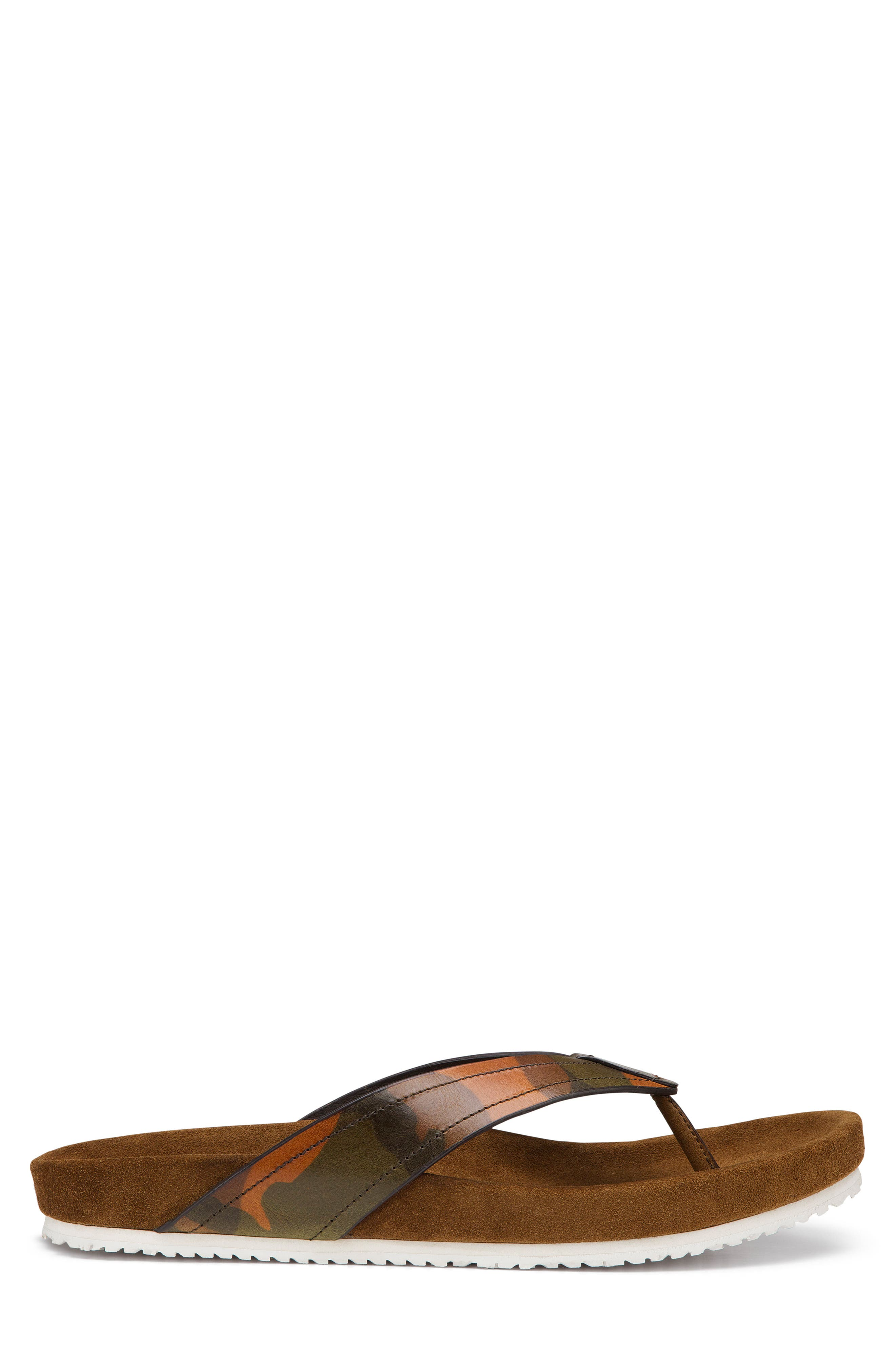 Fleming Flip Flop,                             Alternate thumbnail 3, color,                             CAMOFLAGE LEATHER