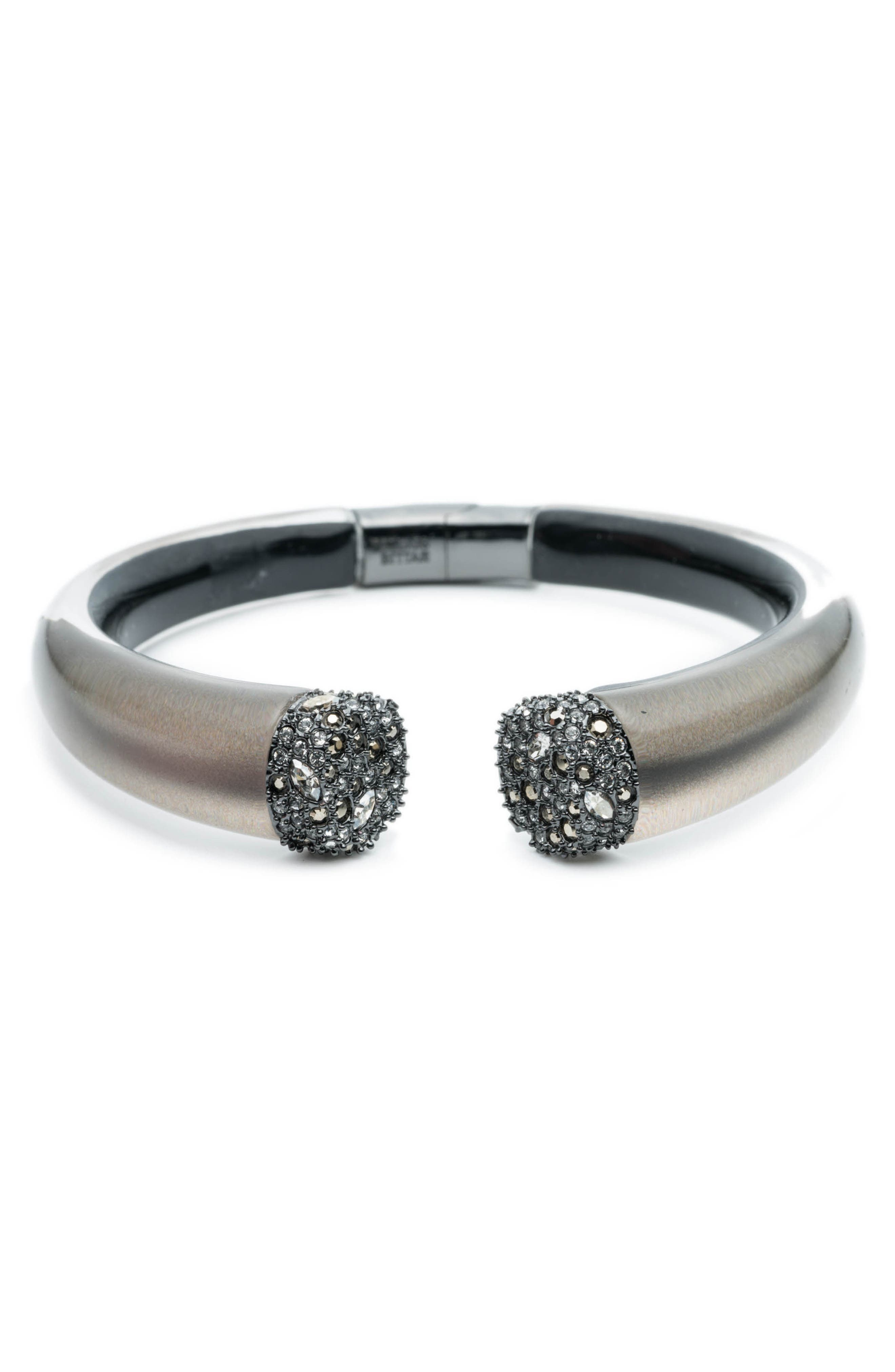 Crystal Accent Hinge Cuff,                             Main thumbnail 1, color,                             069