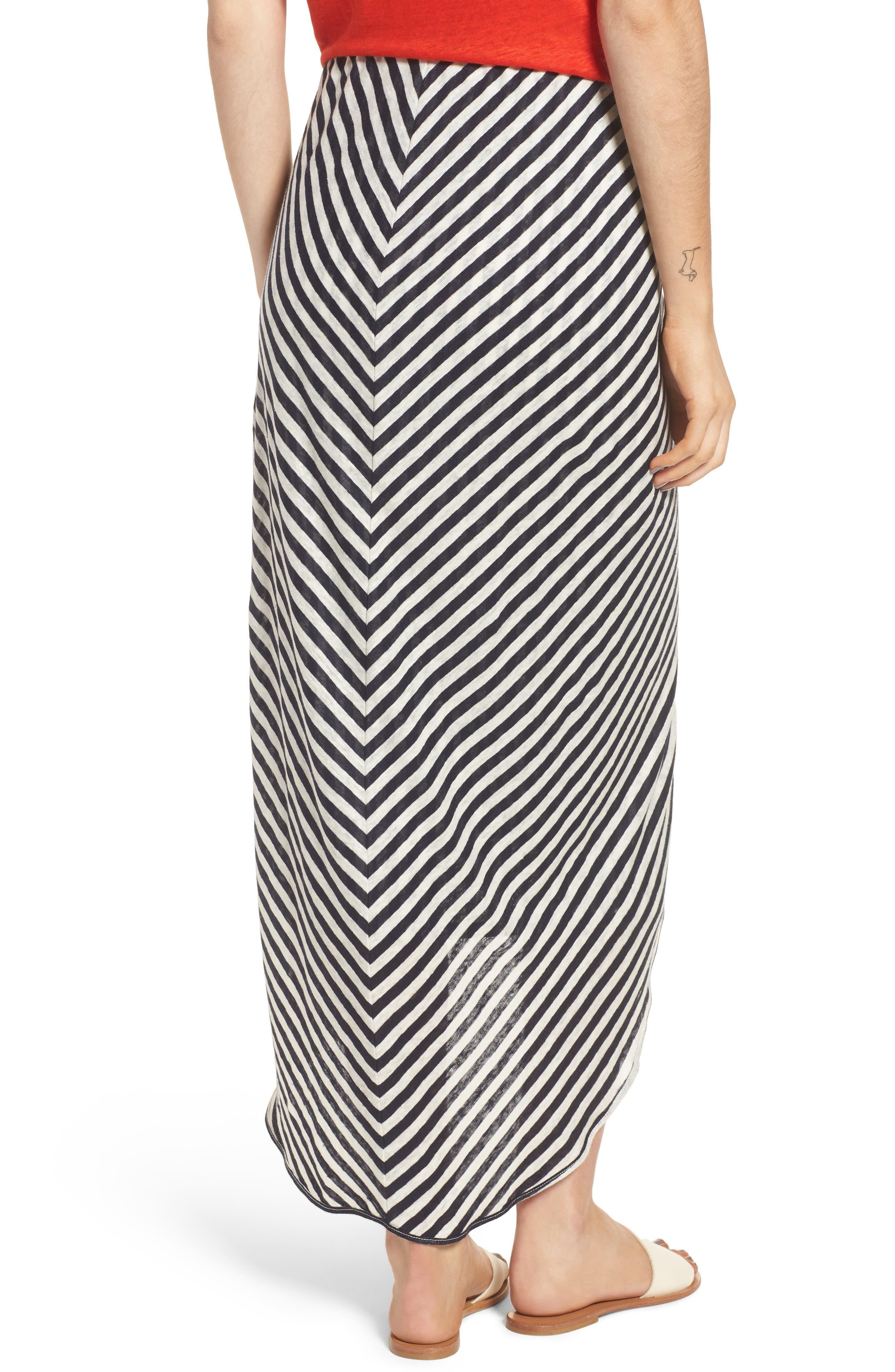 x Margherita Isola Stripe Sarong Skirt,                             Alternate thumbnail 2, color,                             461