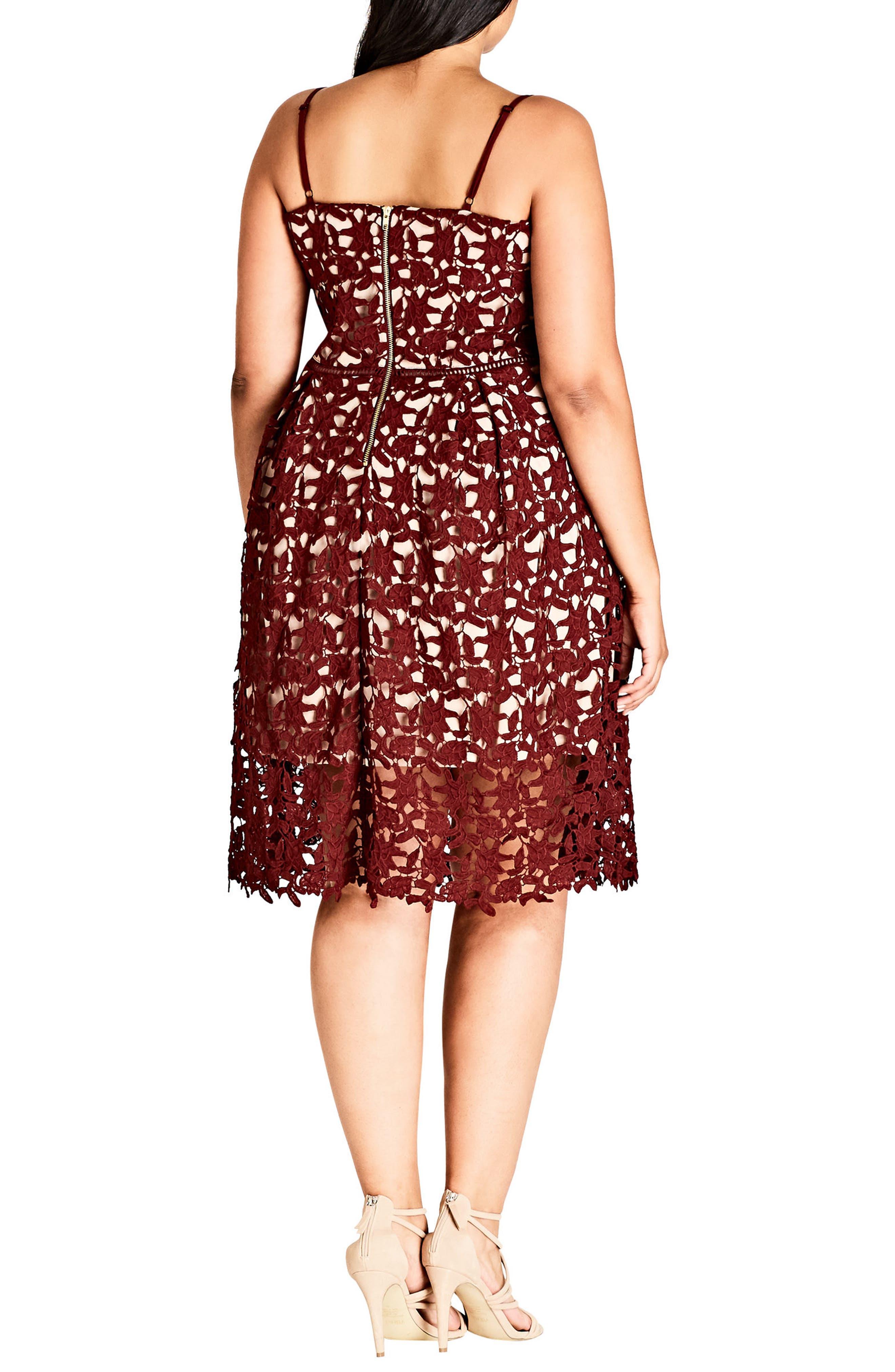 CITY CHIC,                             So Fancy Lace Dress,                             Alternate thumbnail 2, color,                             605