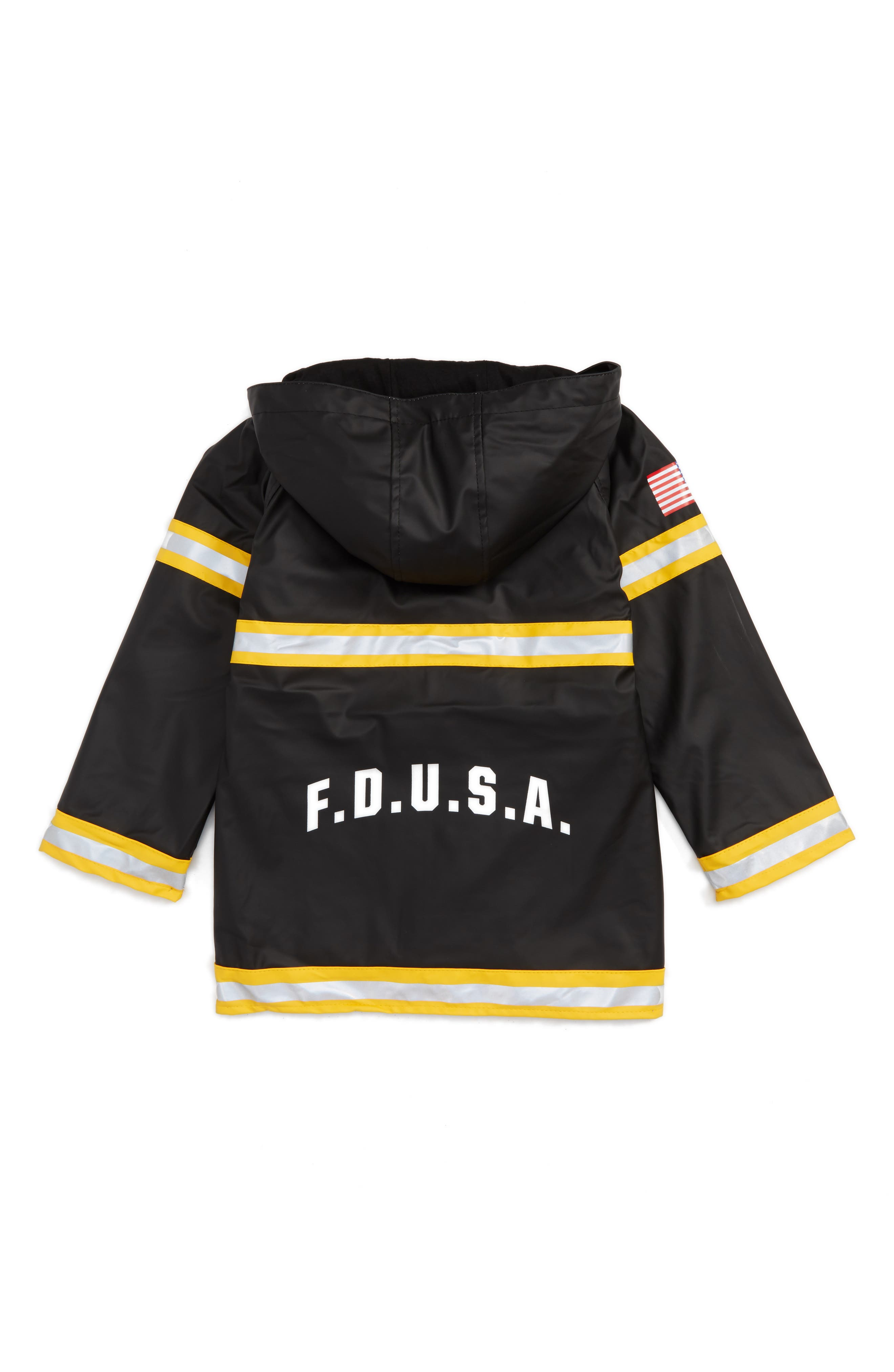 WESTERN CHIEF,                             Fire Chief Raincoat,                             Alternate thumbnail 2, color,                             BLACK