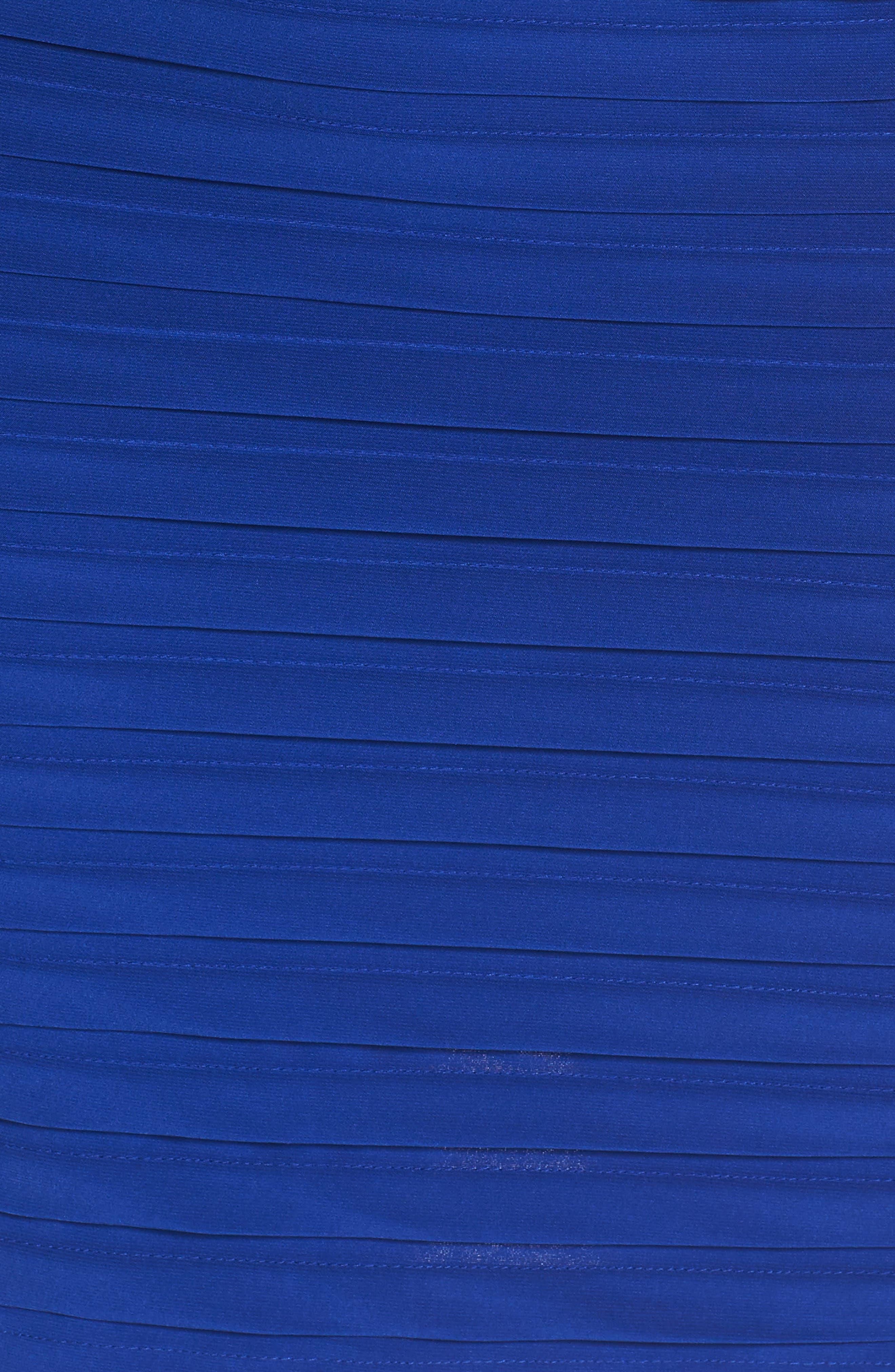 Shutter Pleat Popover Sheath Dress,                             Alternate thumbnail 6, color,                             SAPPHIRE