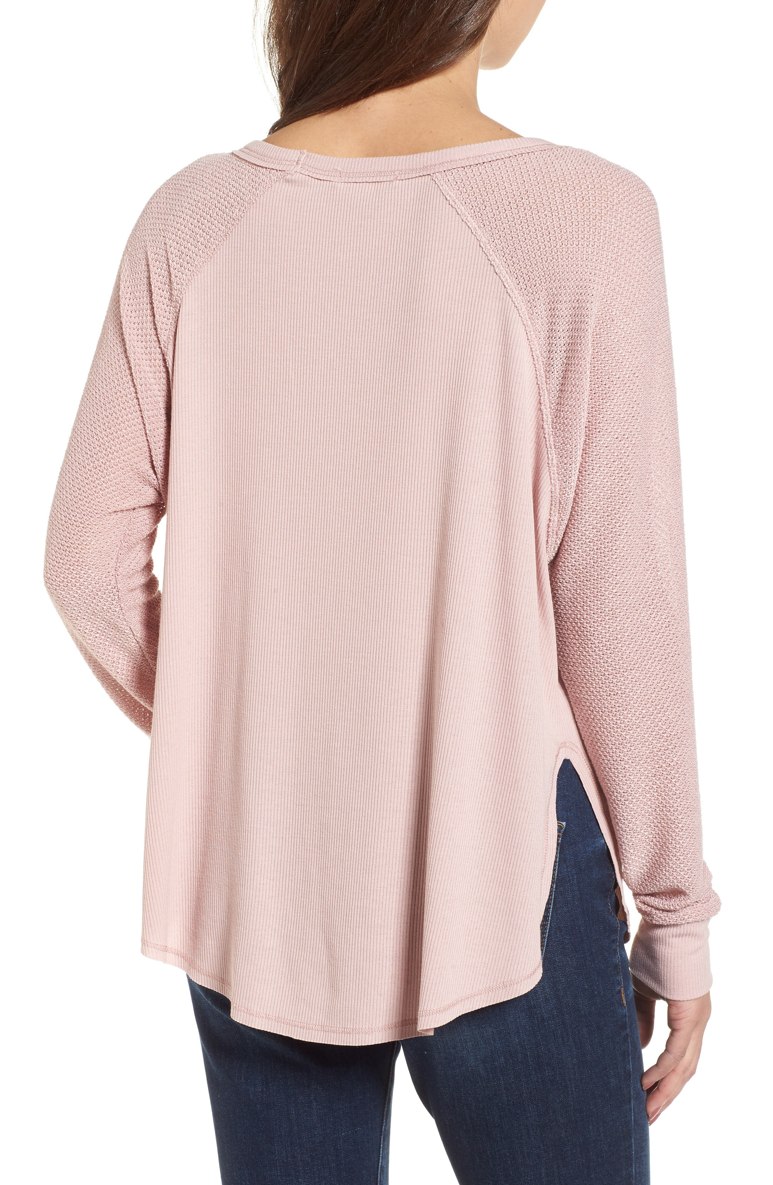 Contrast Sleeve Thermal Top,                             Alternate thumbnail 4, color,