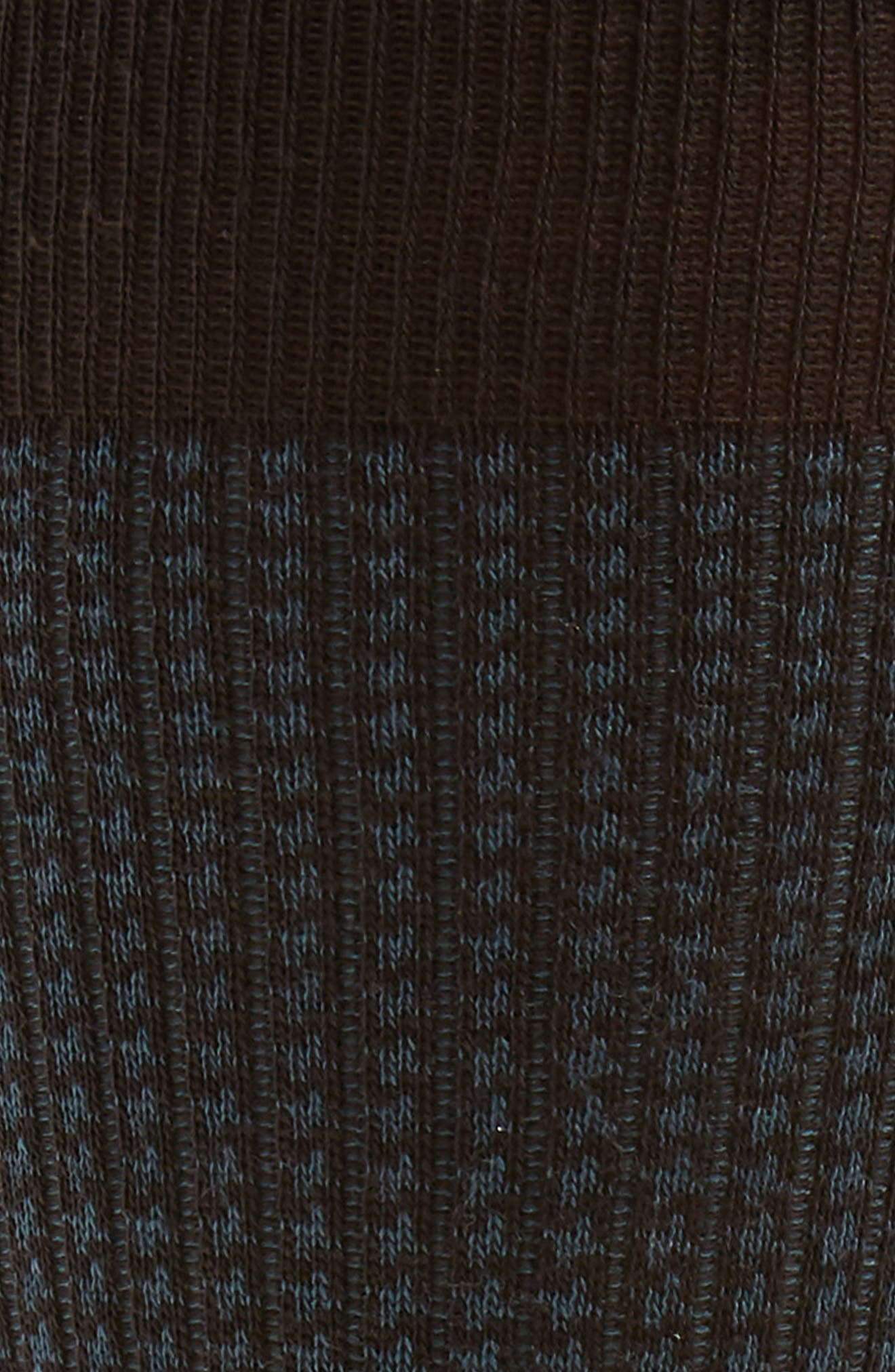Houndstooth Wool Blend Socks,                             Alternate thumbnail 2, color,                             CHOCOLATE