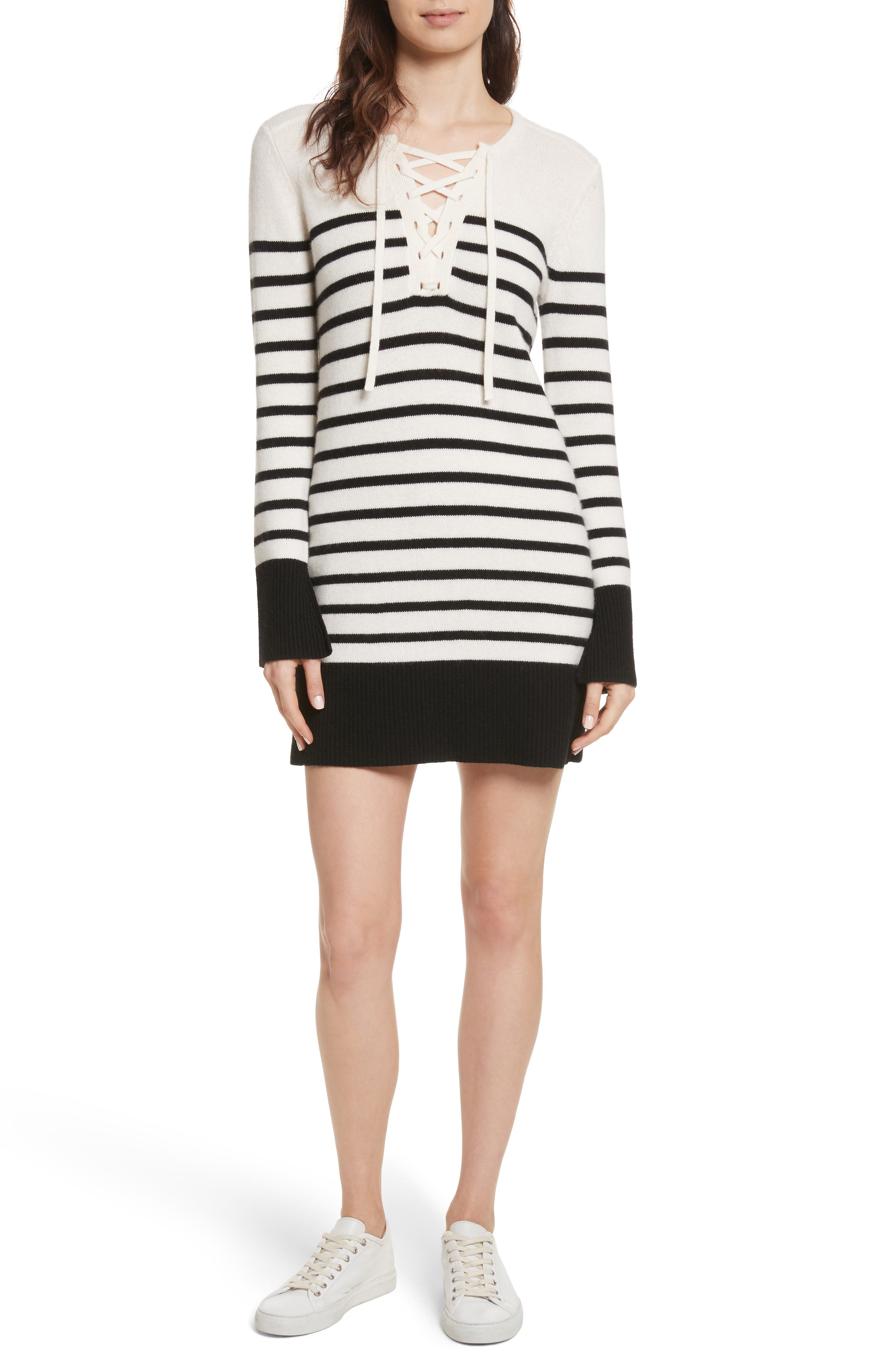 Heltan Wool & Cashmere Sweater Dress,                         Main,                         color, 123