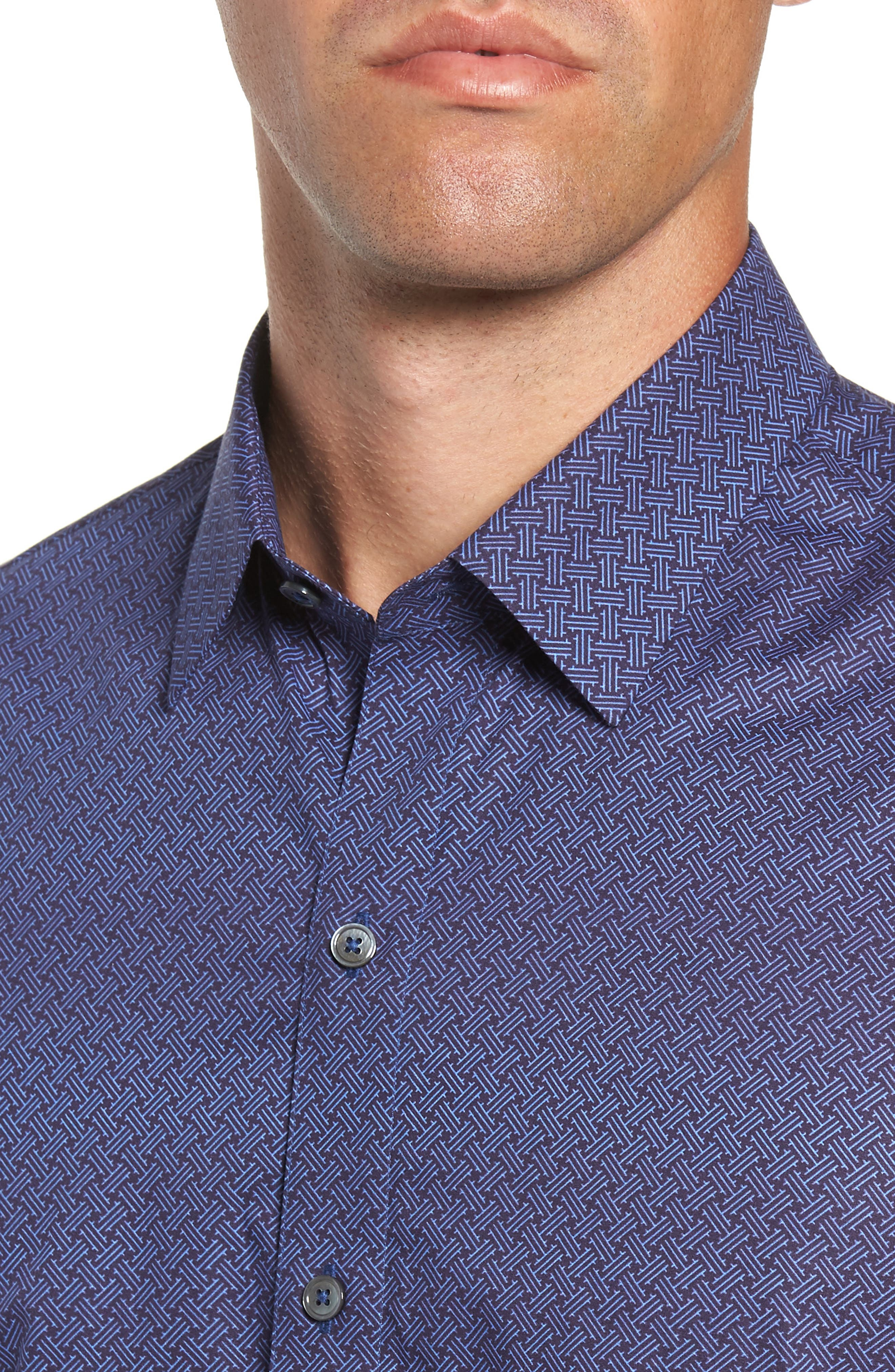 Singh Regular Fit Sport Shirt,                             Alternate thumbnail 2, color,                             NAVY