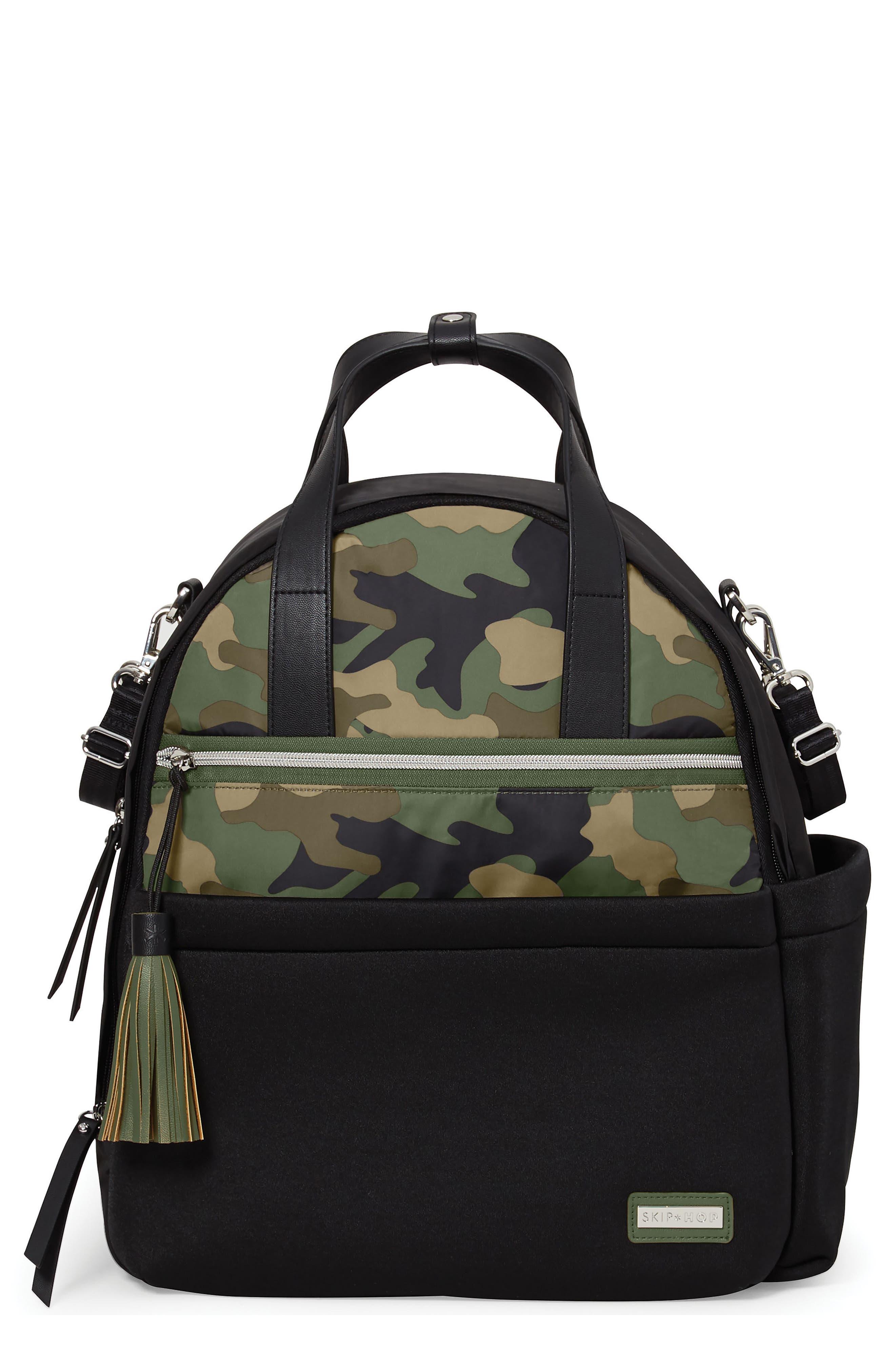 Nolita Neoprene Diaper Backpack,                             Main thumbnail 1, color,                             BLACK/ DARK CAMO