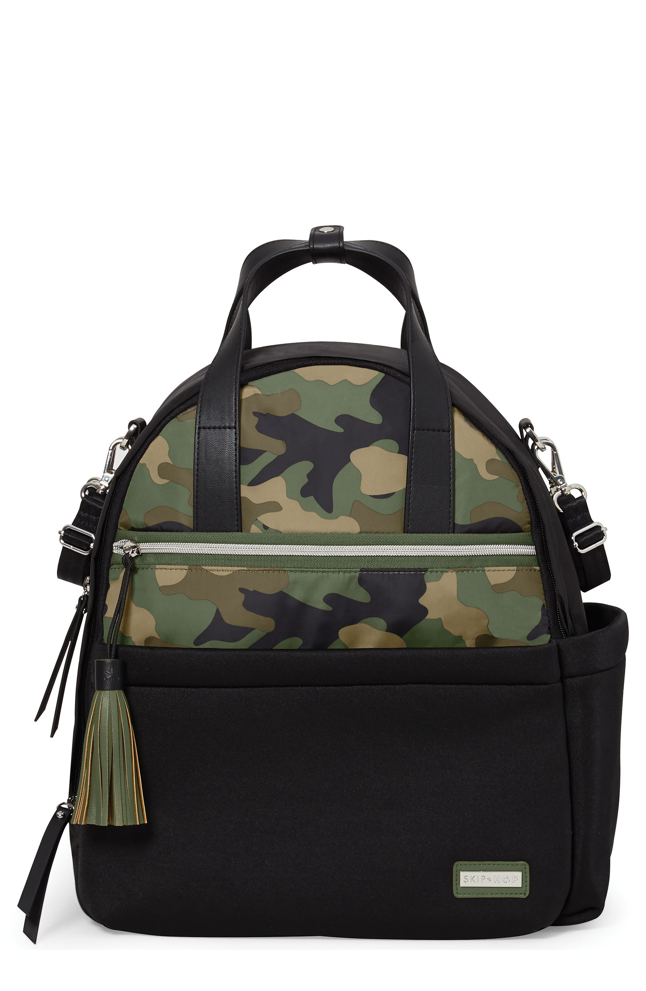 Nolita Neoprene Diaper Backpack,                         Main,                         color, BLACK/ DARK CAMO