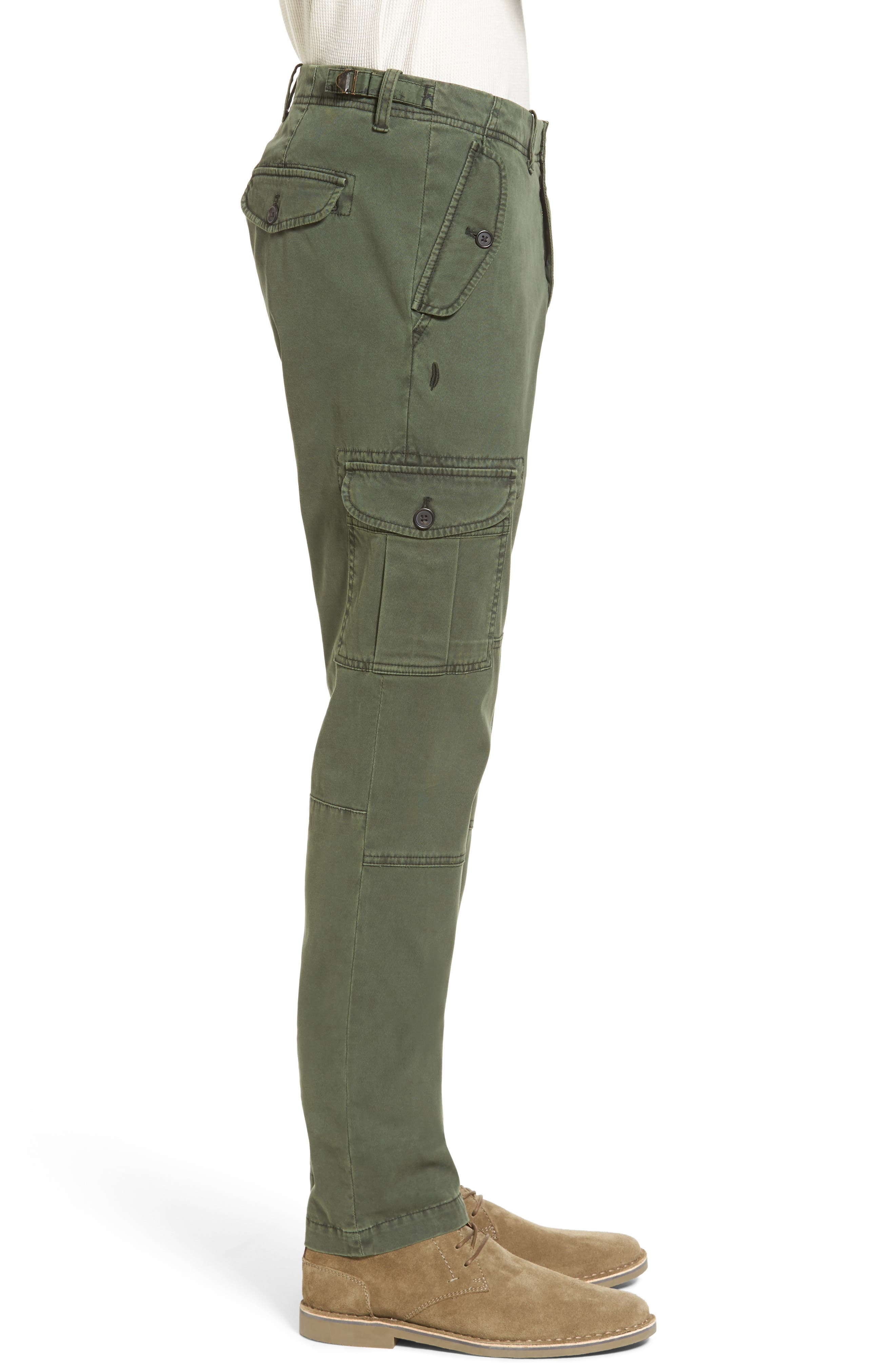 Stretch Twill Cargo Pants,                             Alternate thumbnail 8, color,