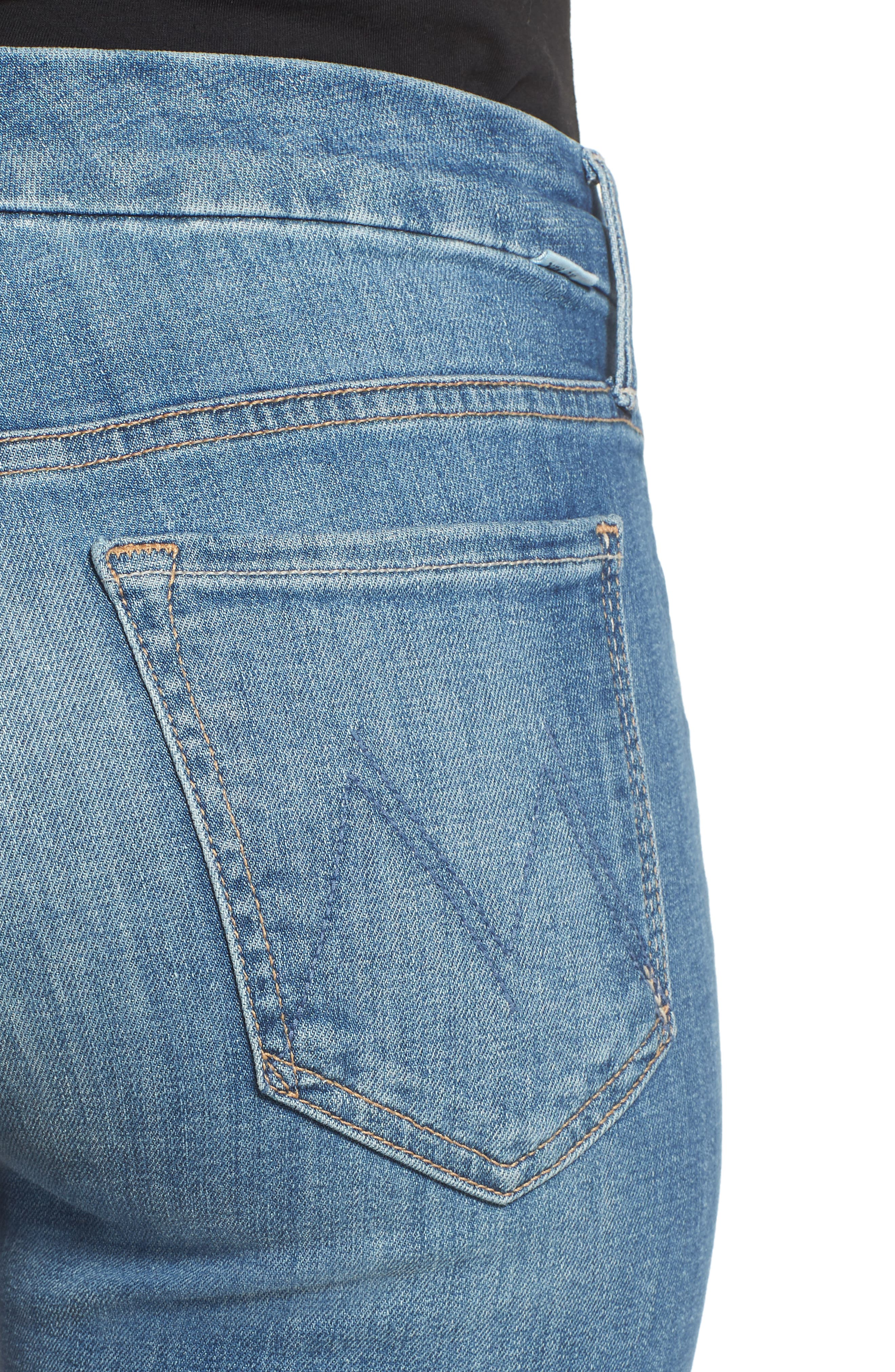 The Looker Fray Ankle Skinny Jeans,                             Alternate thumbnail 4, color,                             404