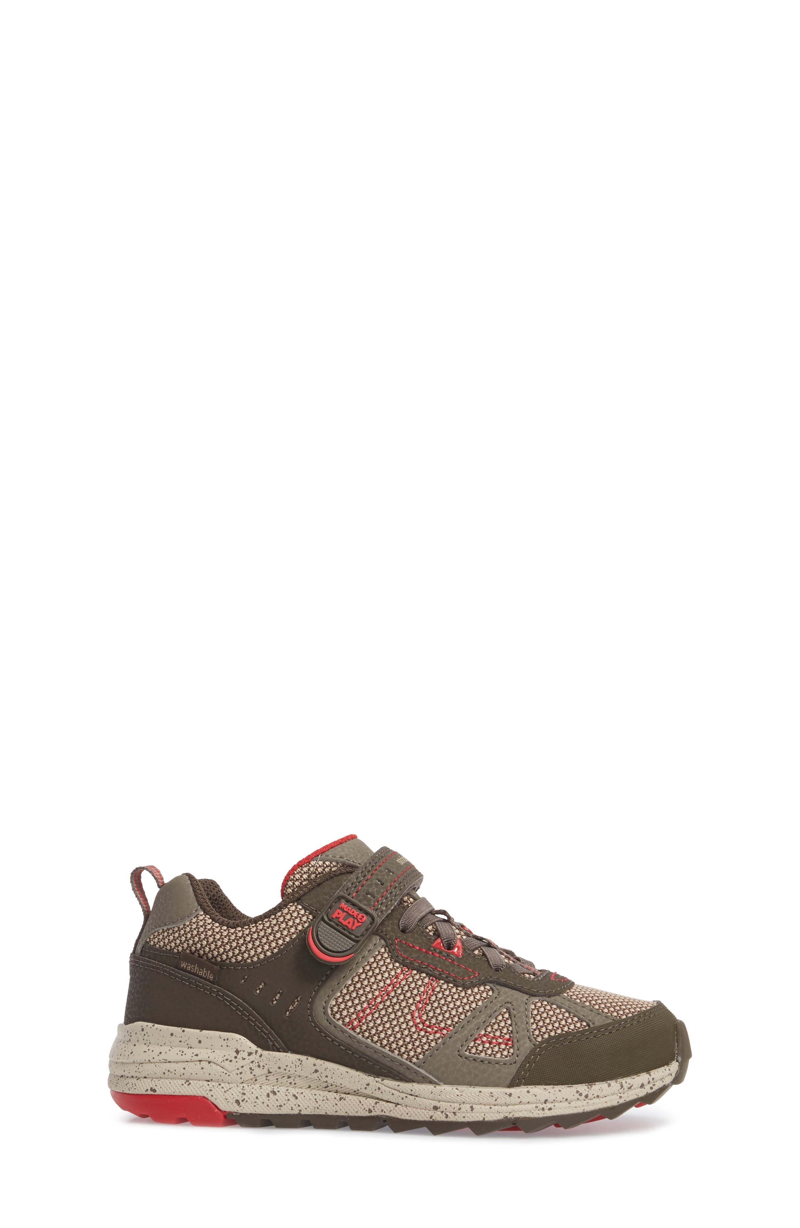 Made2Play<sup>®</sup> Owen Washable Sneaker,                             Alternate thumbnail 3, color,                             BROWN LEATHER/ TEXTILE