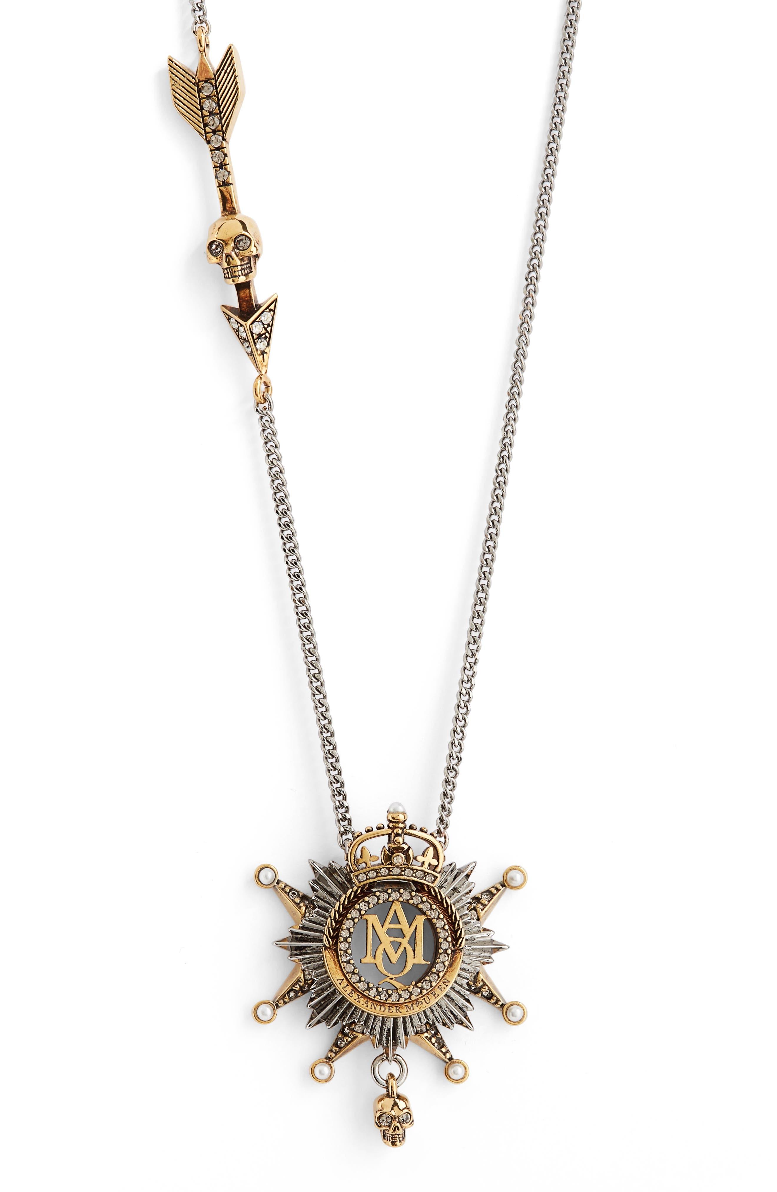 Medallion Pendant Necklace,                             Alternate thumbnail 2, color,                             712