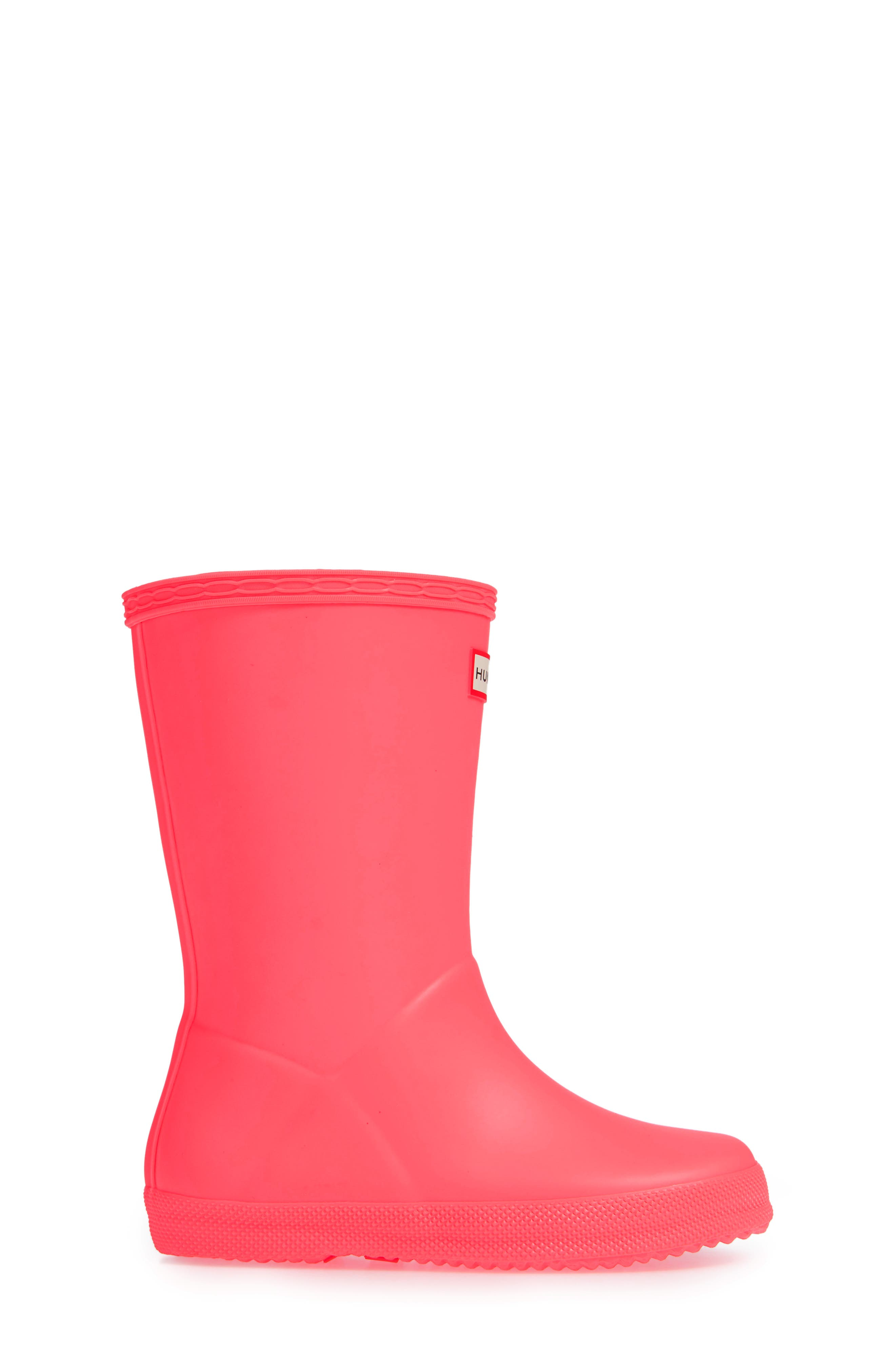 First Classic Rain Boot,                             Alternate thumbnail 3, color,                             HYPER PINK