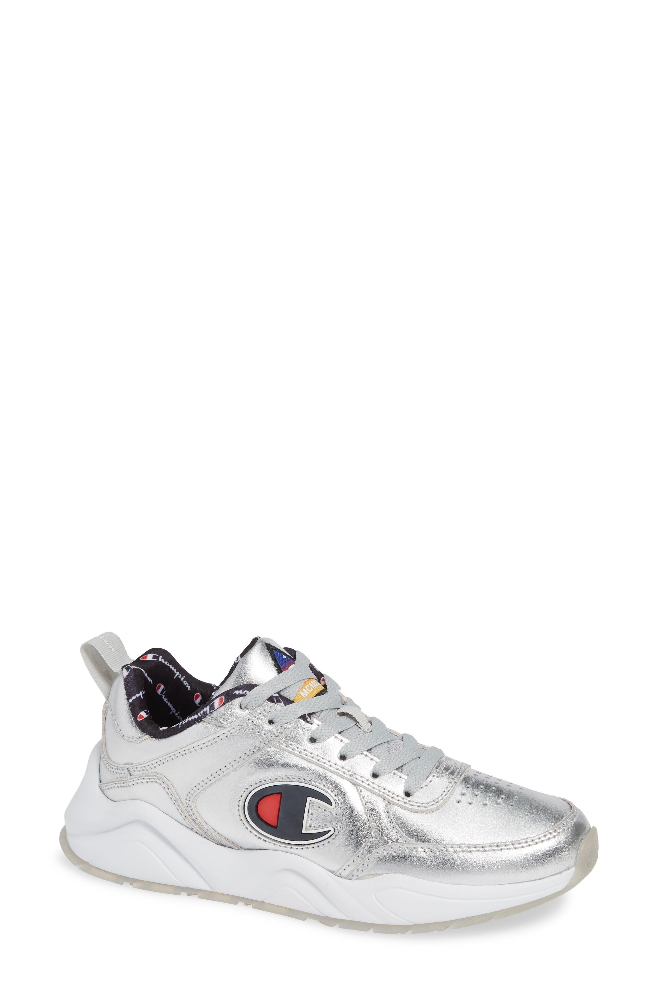 CHAMPION,                             93 Eighteen Metallic Sneaker,                             Main thumbnail 1, color,                             040
