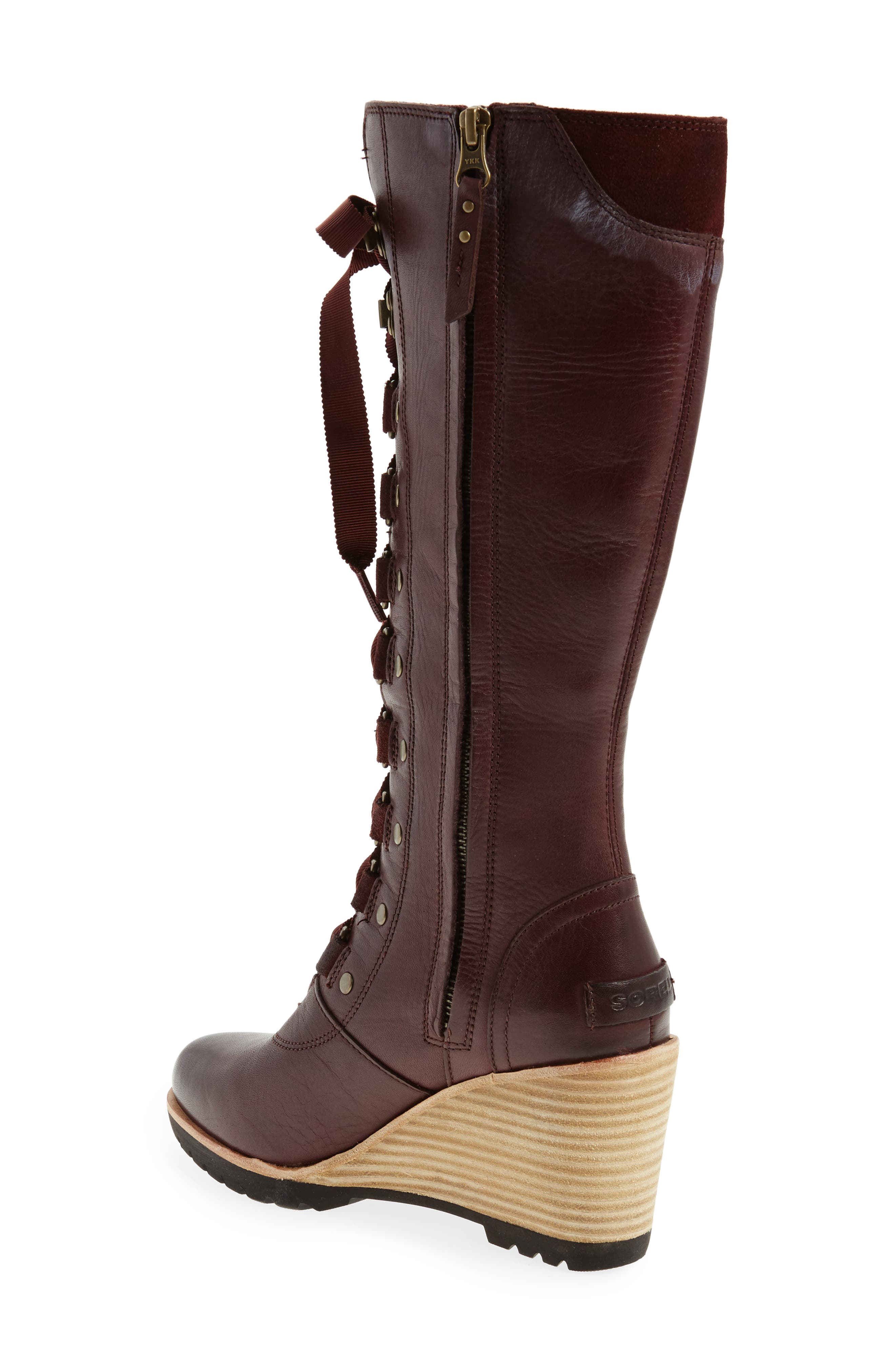 After Hours Lace Up Wedge Boot,                             Alternate thumbnail 4, color,
