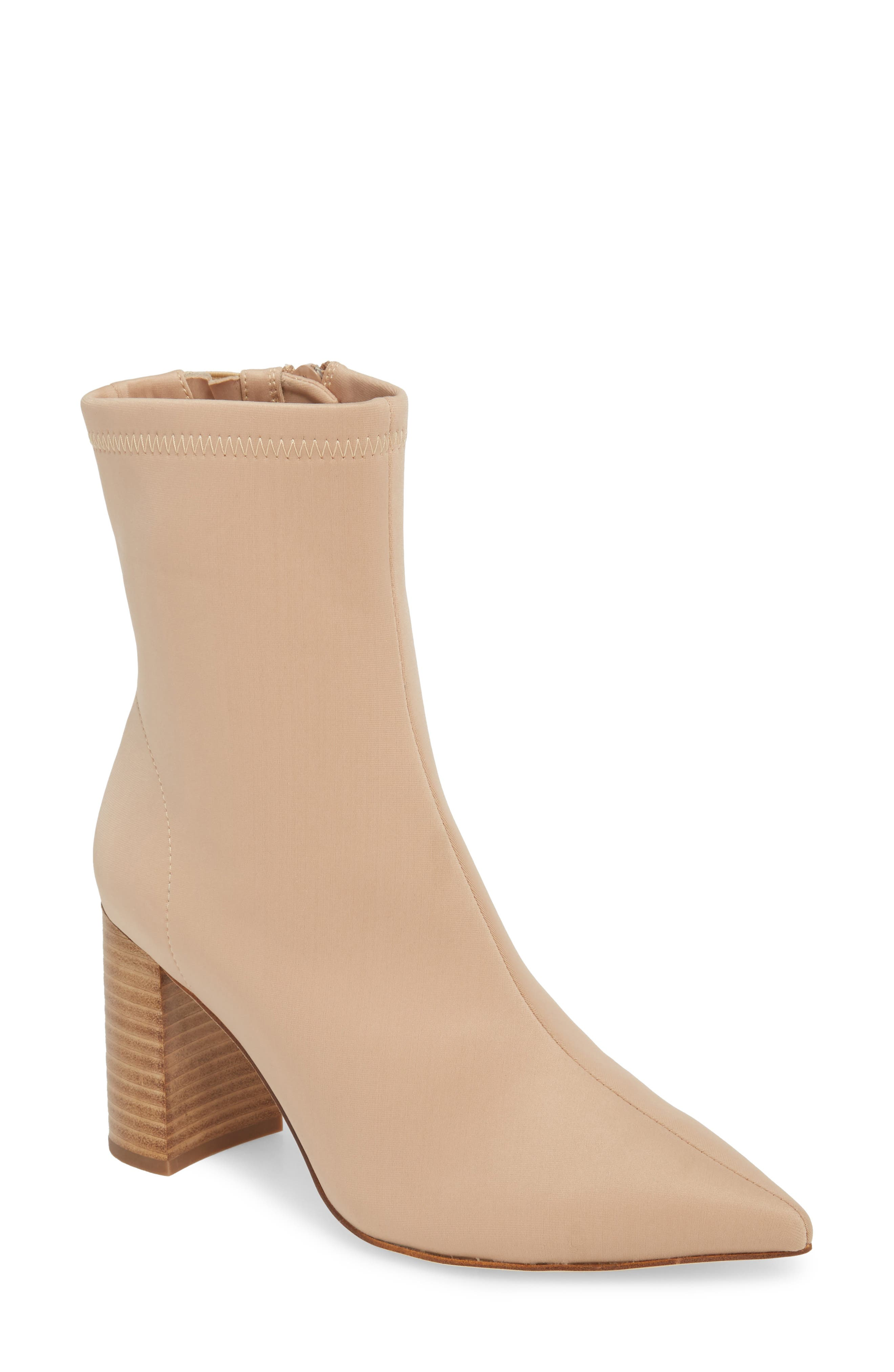 Jeffrey Campbell Coma Stretch Bootie- Beige